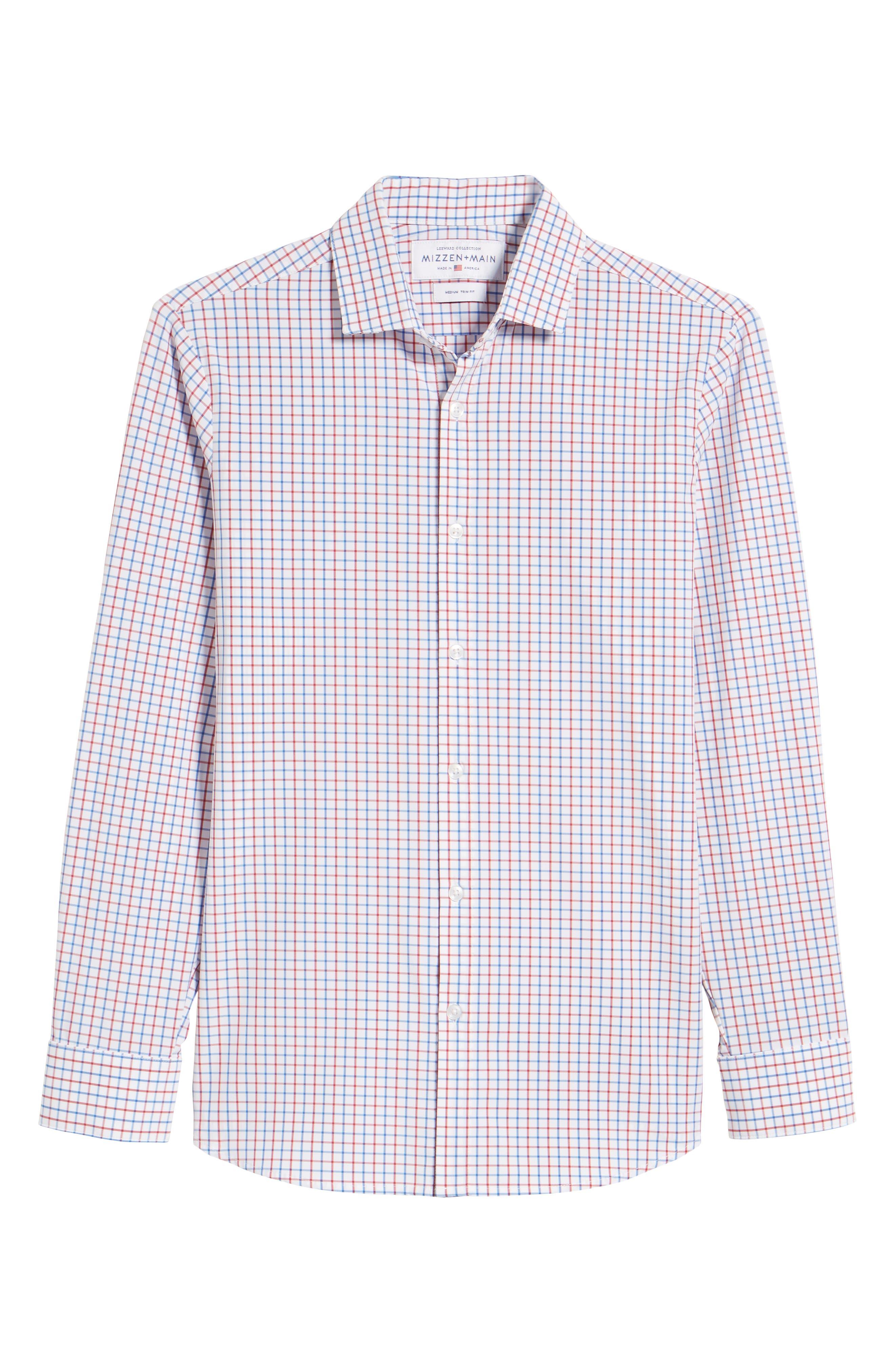 Henry Slim Fit Check Performance Sport Shirt,                             Alternate thumbnail 6, color,                             Multi