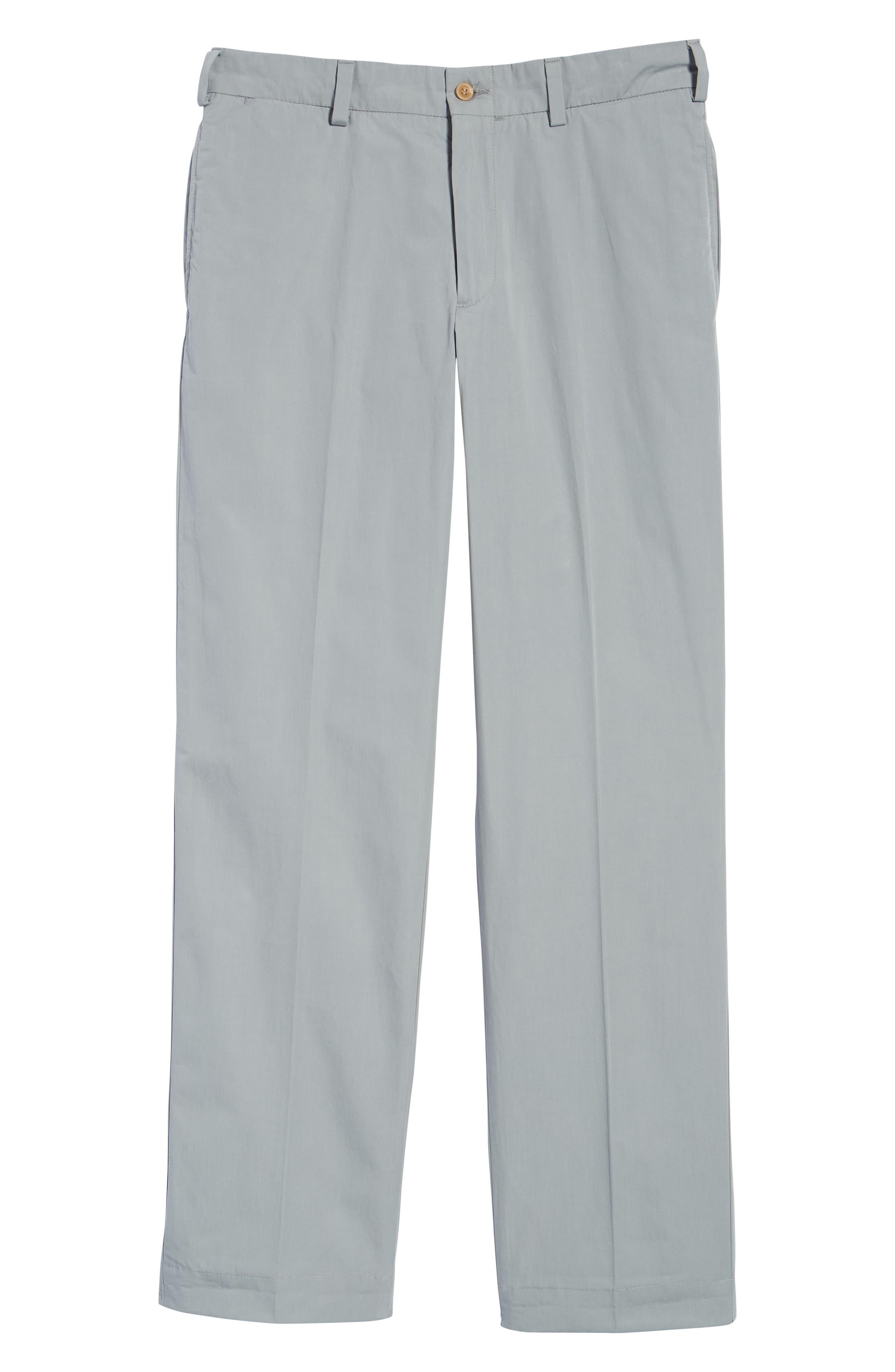 M2 Classic Fit Flat Front Tropical Cotton Poplin Pants,                             Alternate thumbnail 6, color,                             Nickel
