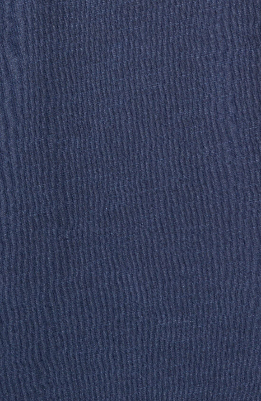 Slim Fit Polo,                             Alternate thumbnail 3, color,                             Oiled Blue