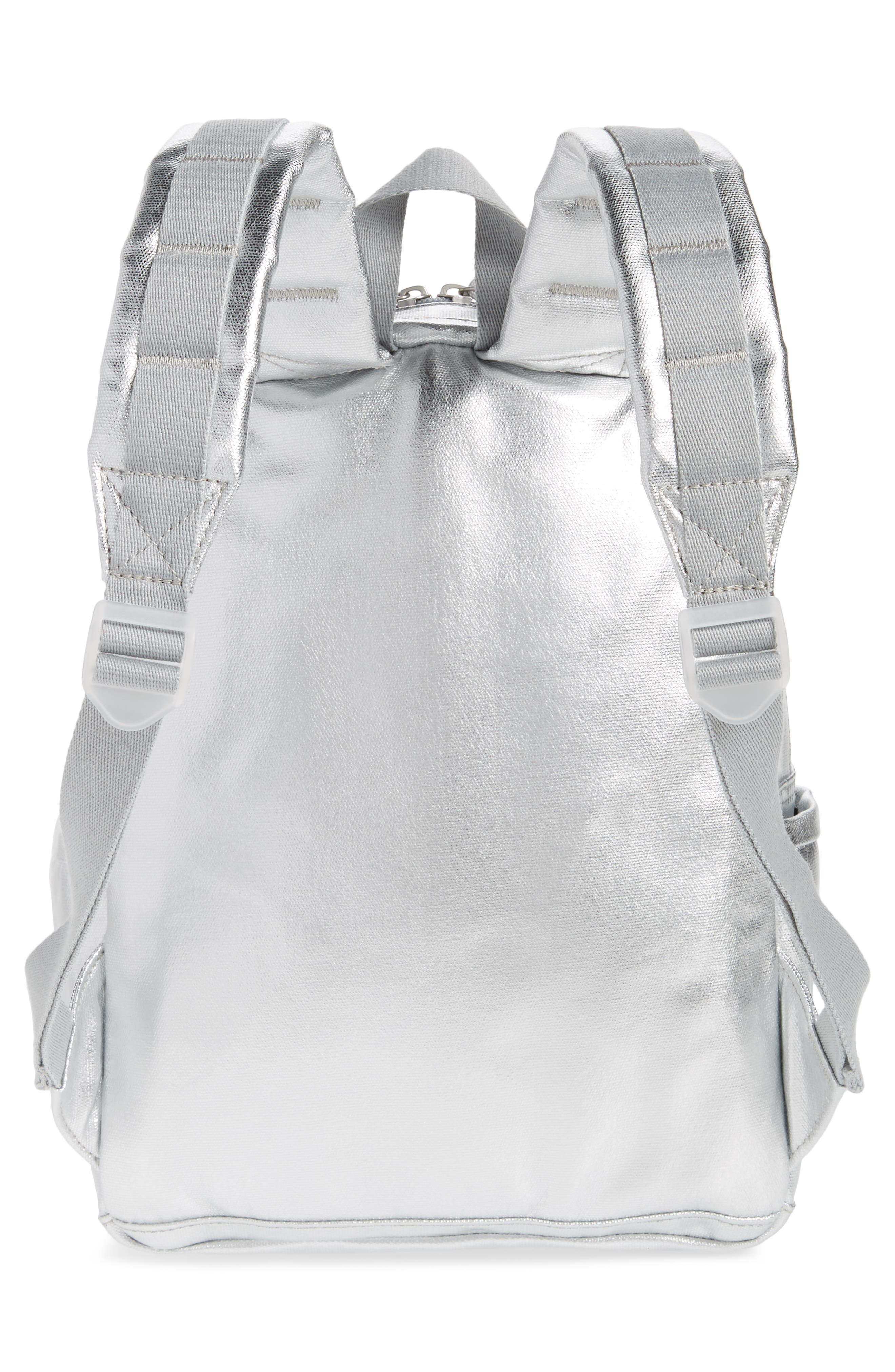 Downtown Mini Kane Canvas Backpack,                             Alternate thumbnail 3, color,                             Silver