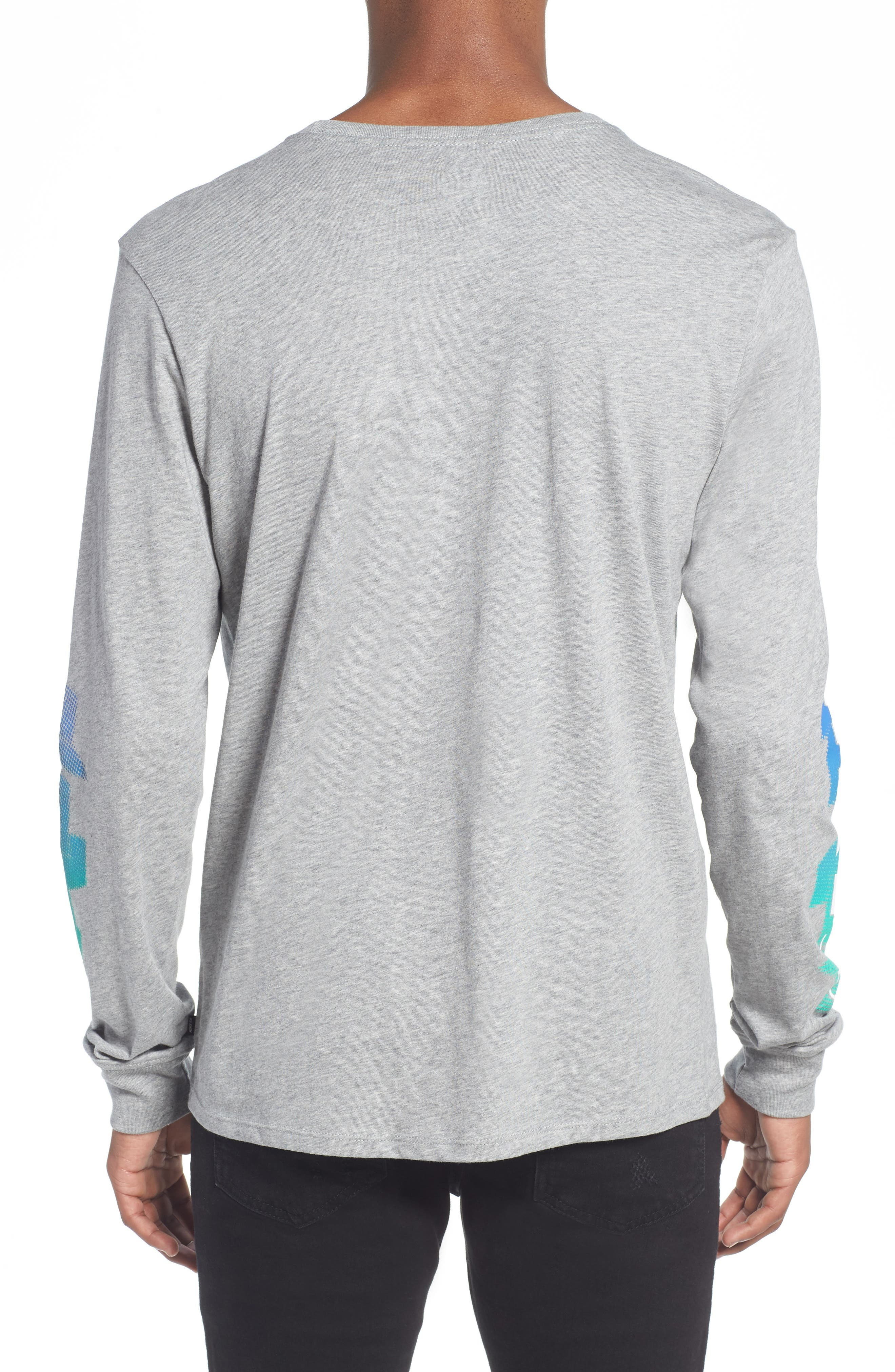 SB Globe Graphic Long Sleeve T-Shirt,                             Alternate thumbnail 2, color,                             Dark Grey Heather