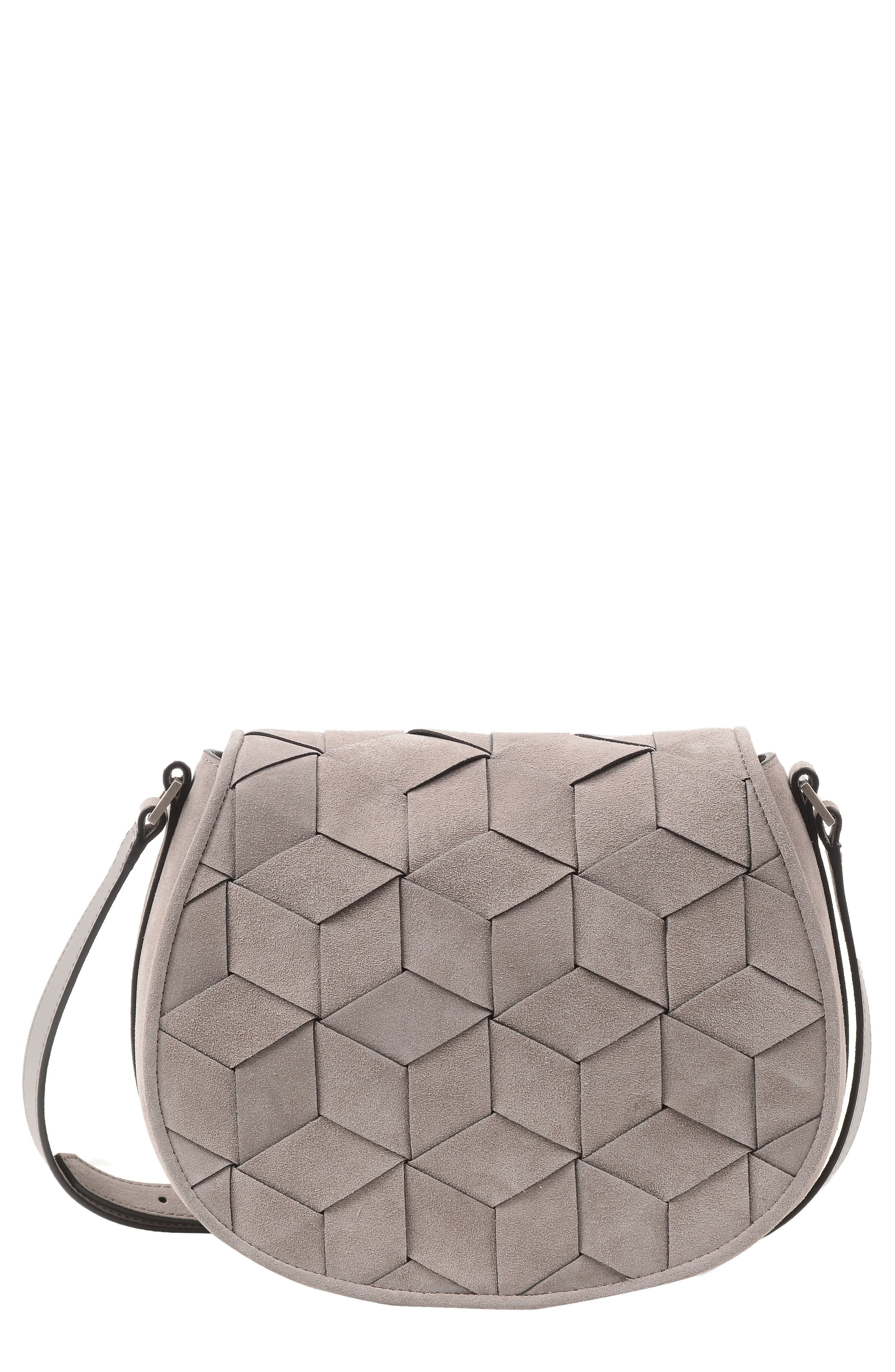 WELDEN ESCAPADE SUEDE SADDLE BAG - GREY