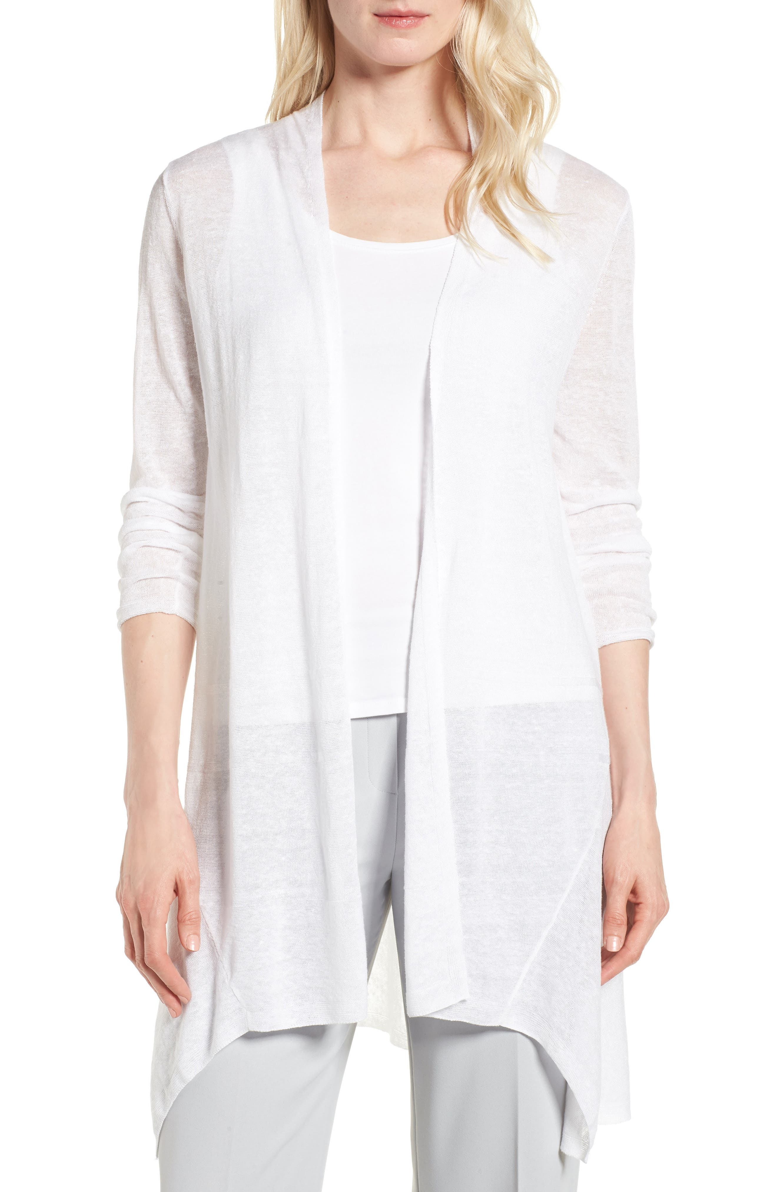 Here or There Long Cardigan,                         Main,                         color, Paper White