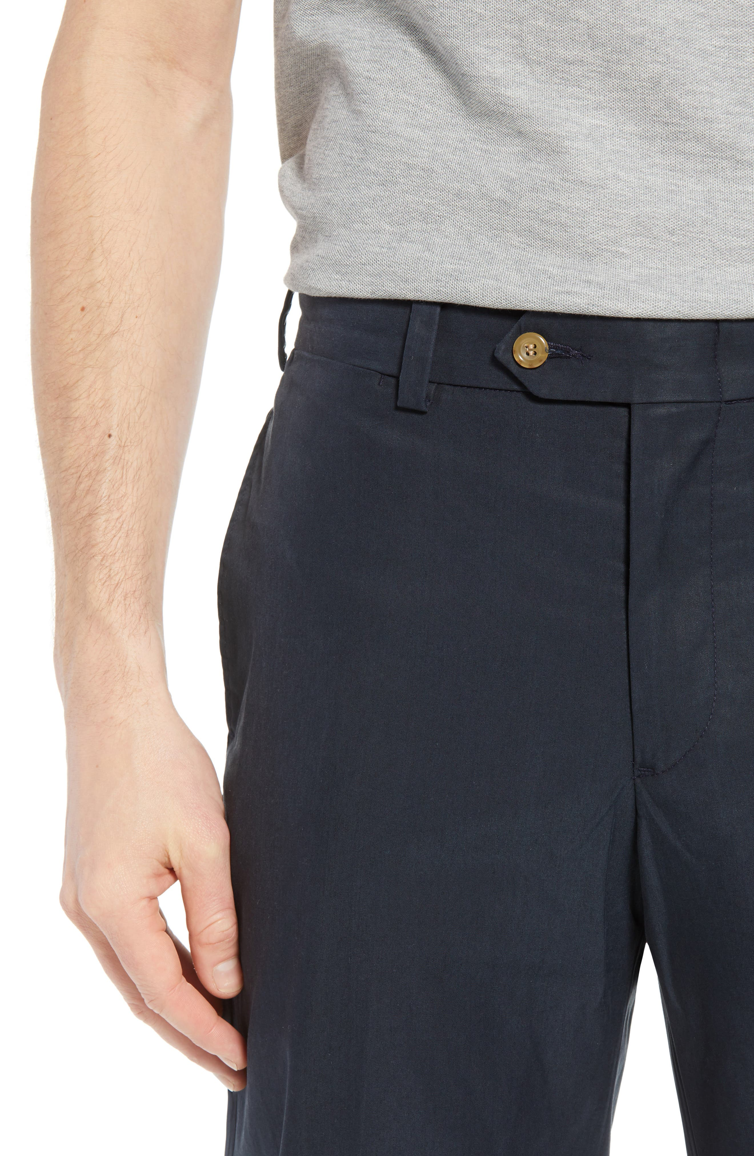M2 Classic Fit Flat Front Travel Twill Pants,                             Alternate thumbnail 4, color,                             Navy