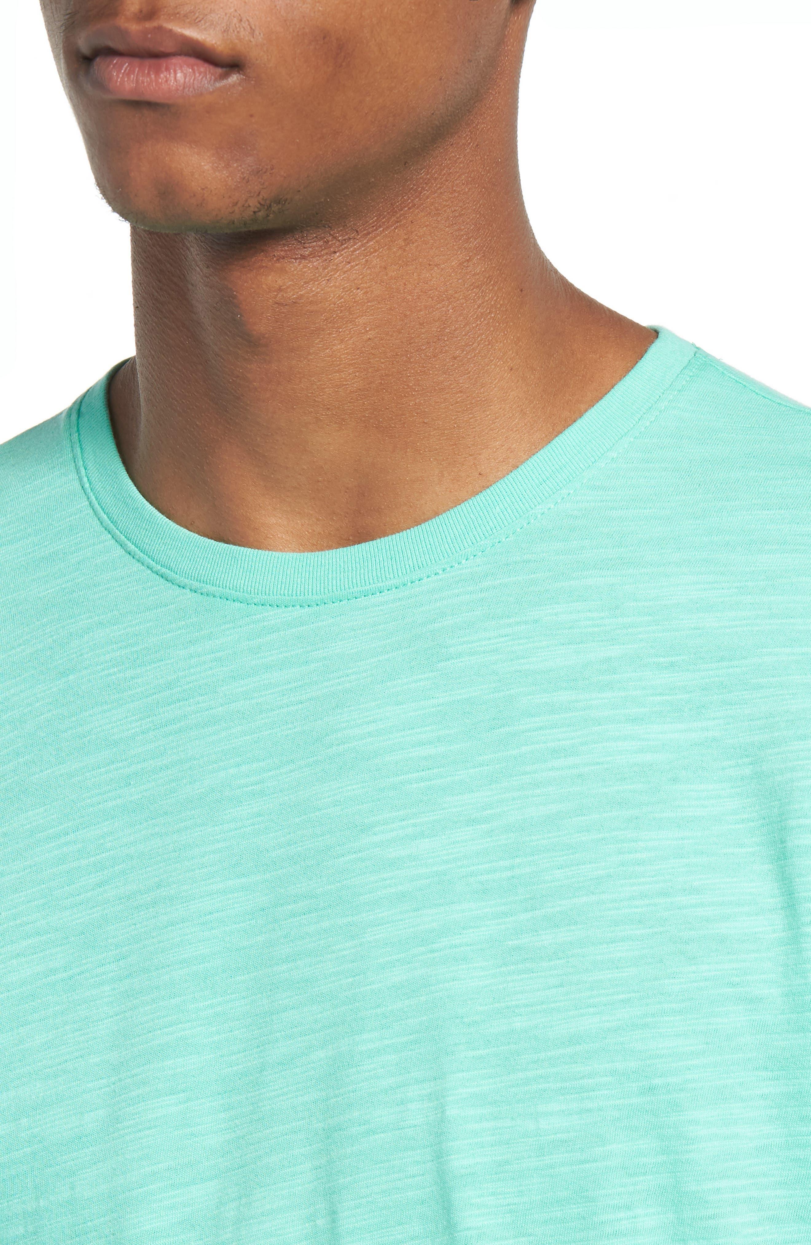 Slub Knit T-Shirt,                             Alternate thumbnail 4, color,                             Green Largo