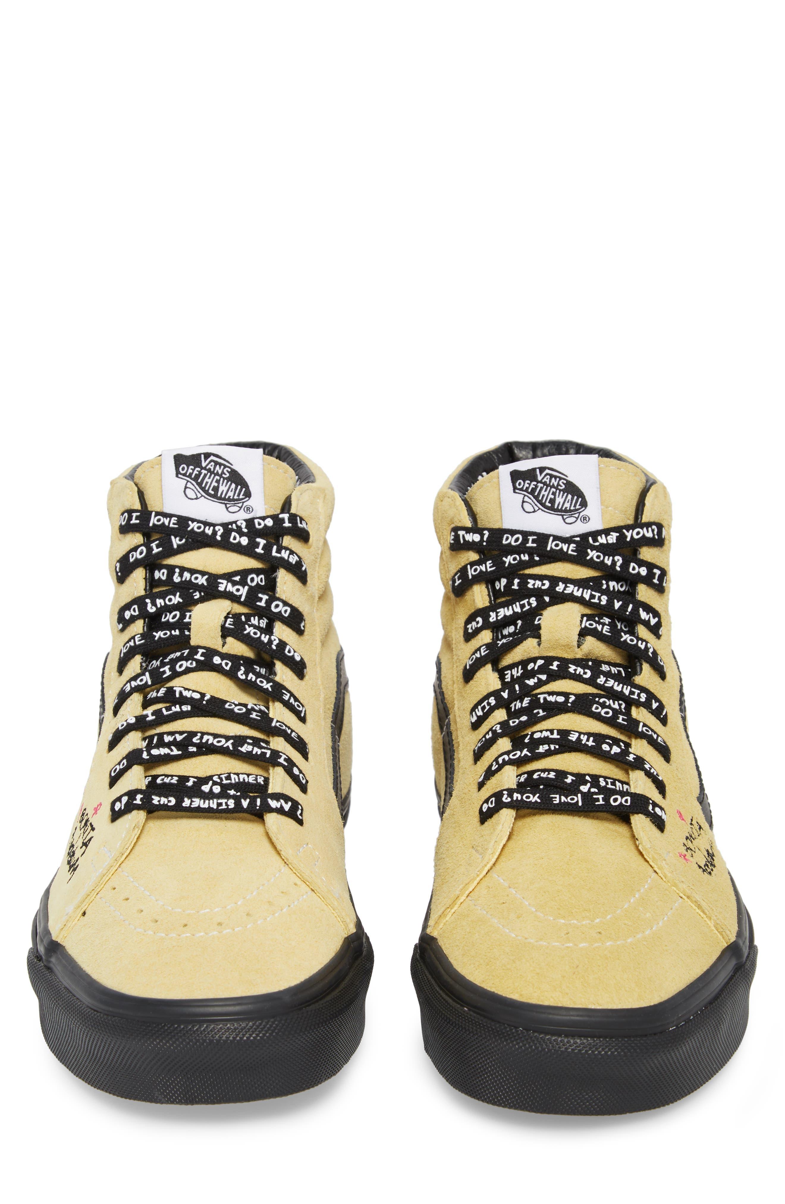 ATCQ Sk8-Hi Sneaker,                             Alternate thumbnail 4, color,                             Mellow Yellow/ Spectra Yellow