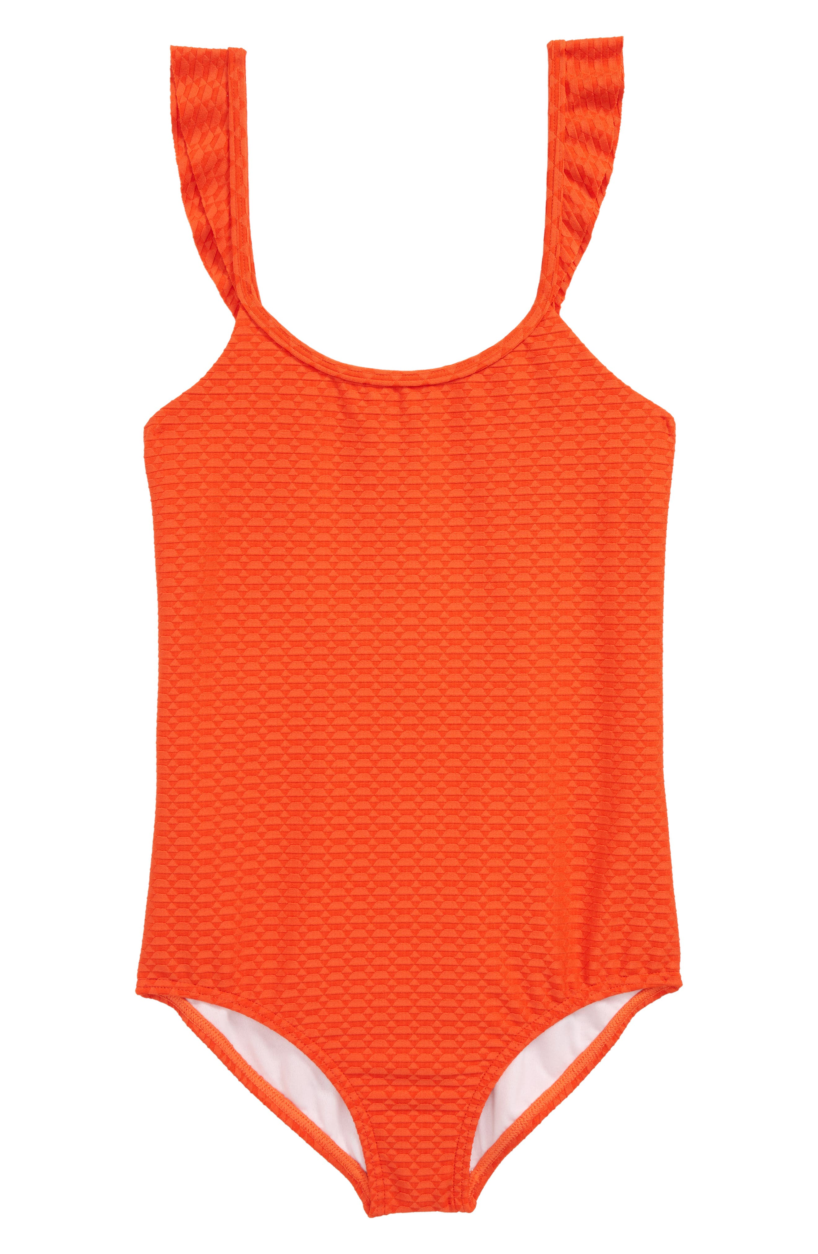 Making Shapes One-Piece Swimsuit,                             Main thumbnail 1, color,                             Poppy
