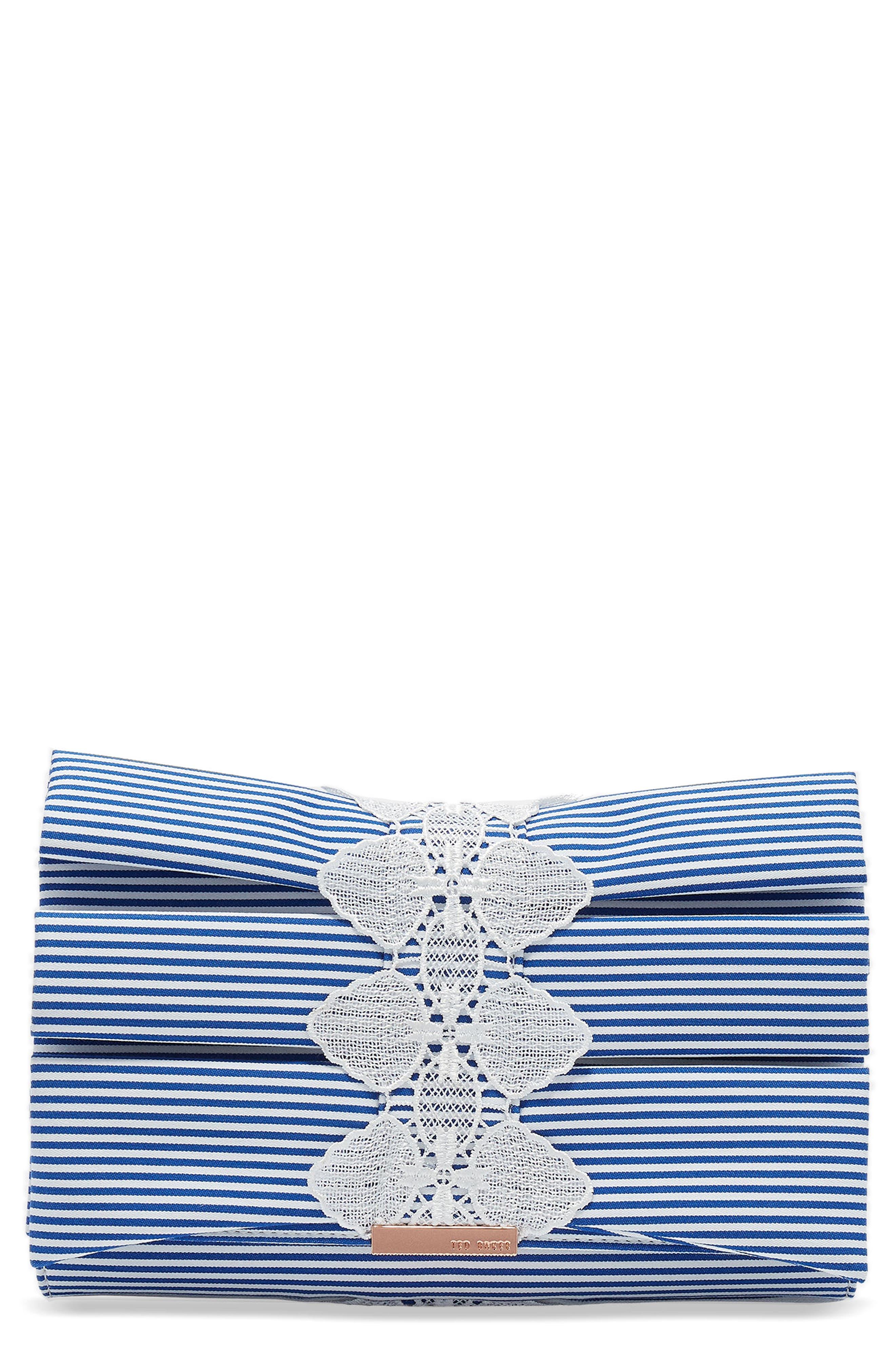Box Pleat Evening Bag,                         Main,                         color, White