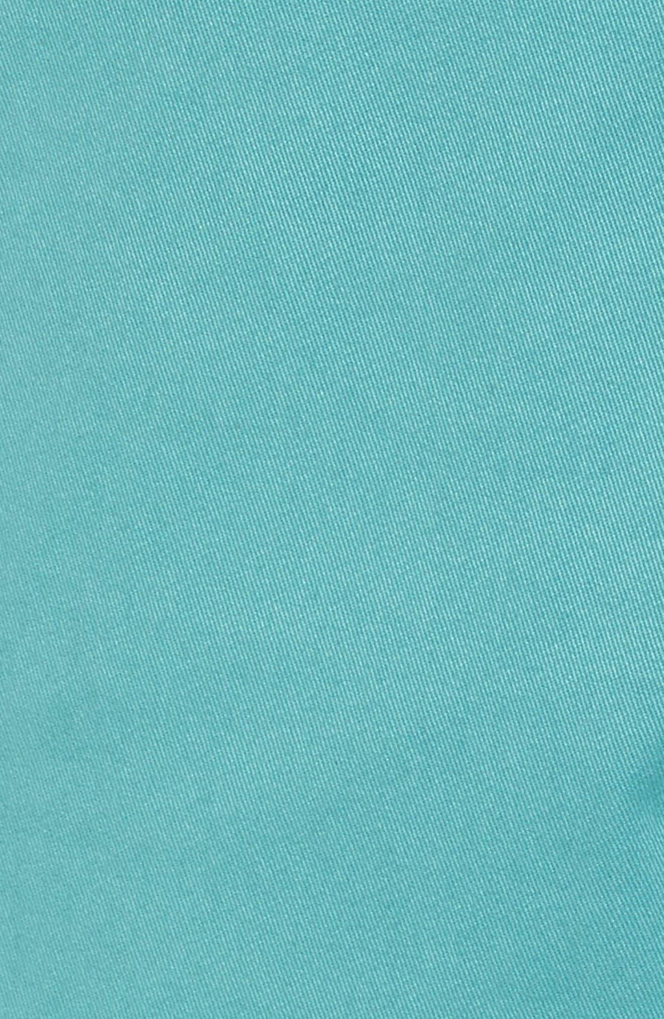 Proshtt Stretch Cotton Shorts,                             Alternate thumbnail 5, color,                             Pale Green
