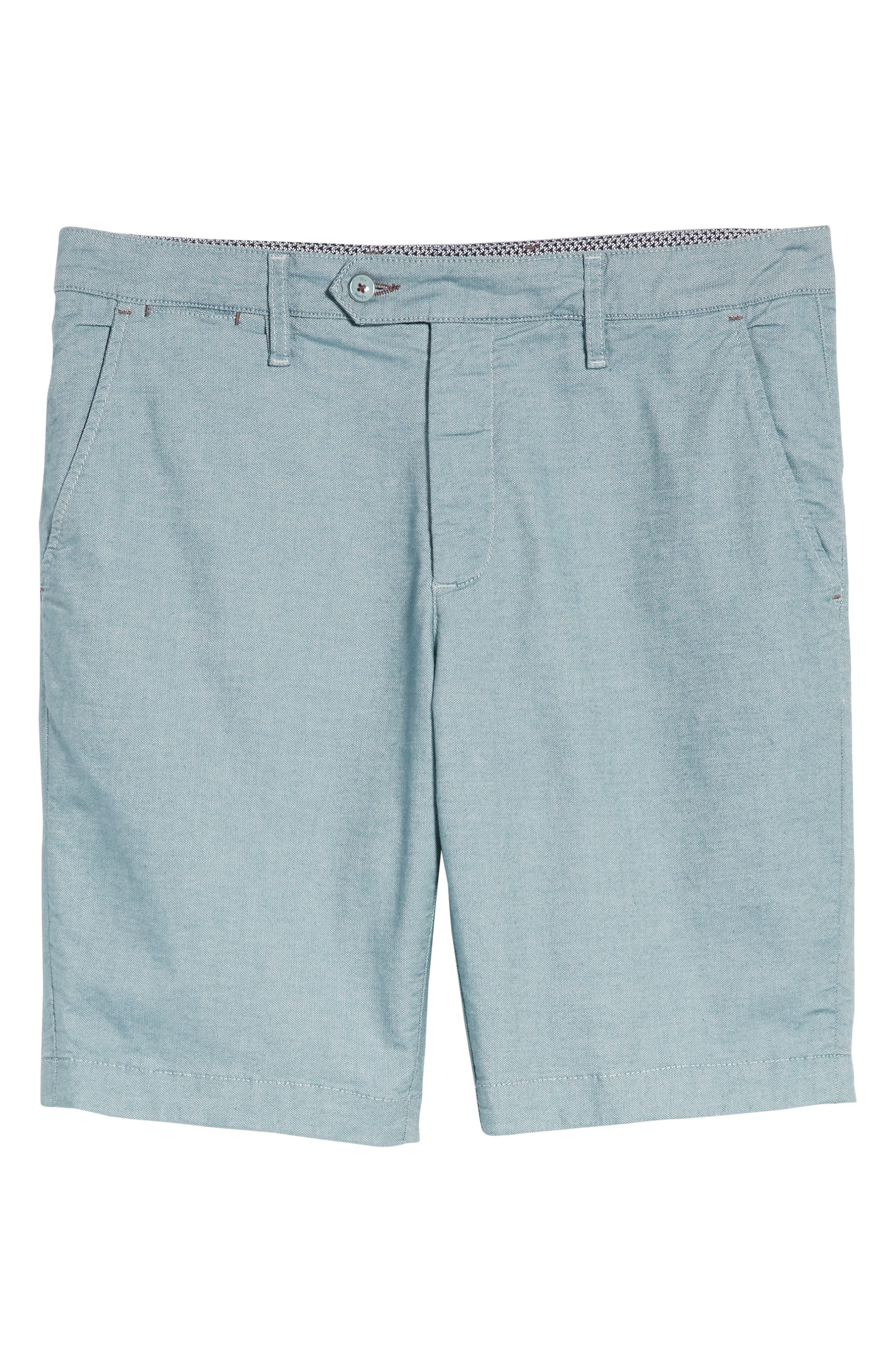 Alternate Image 6  - Ted Baker London Herbott Stretch Cotton Shorts