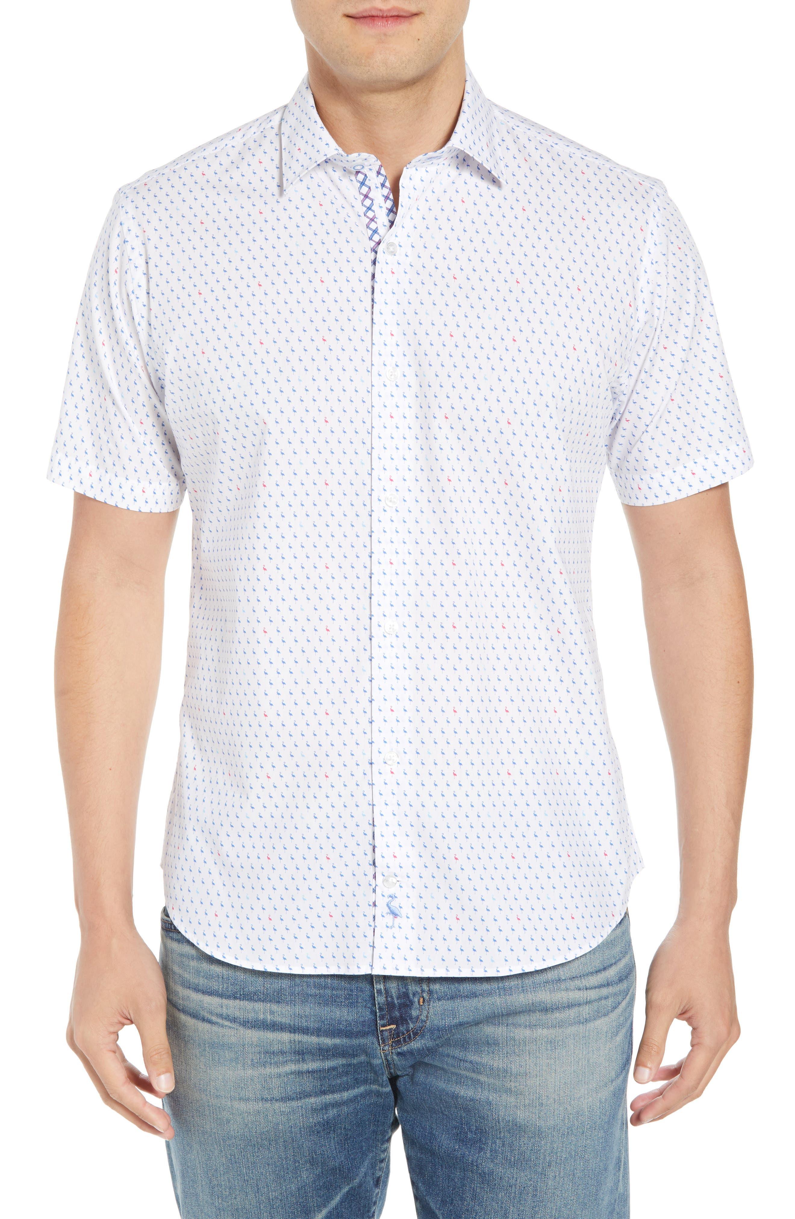 Arrie Regular Fit Print Sport Shirt,                         Main,                         color, Peri Blue