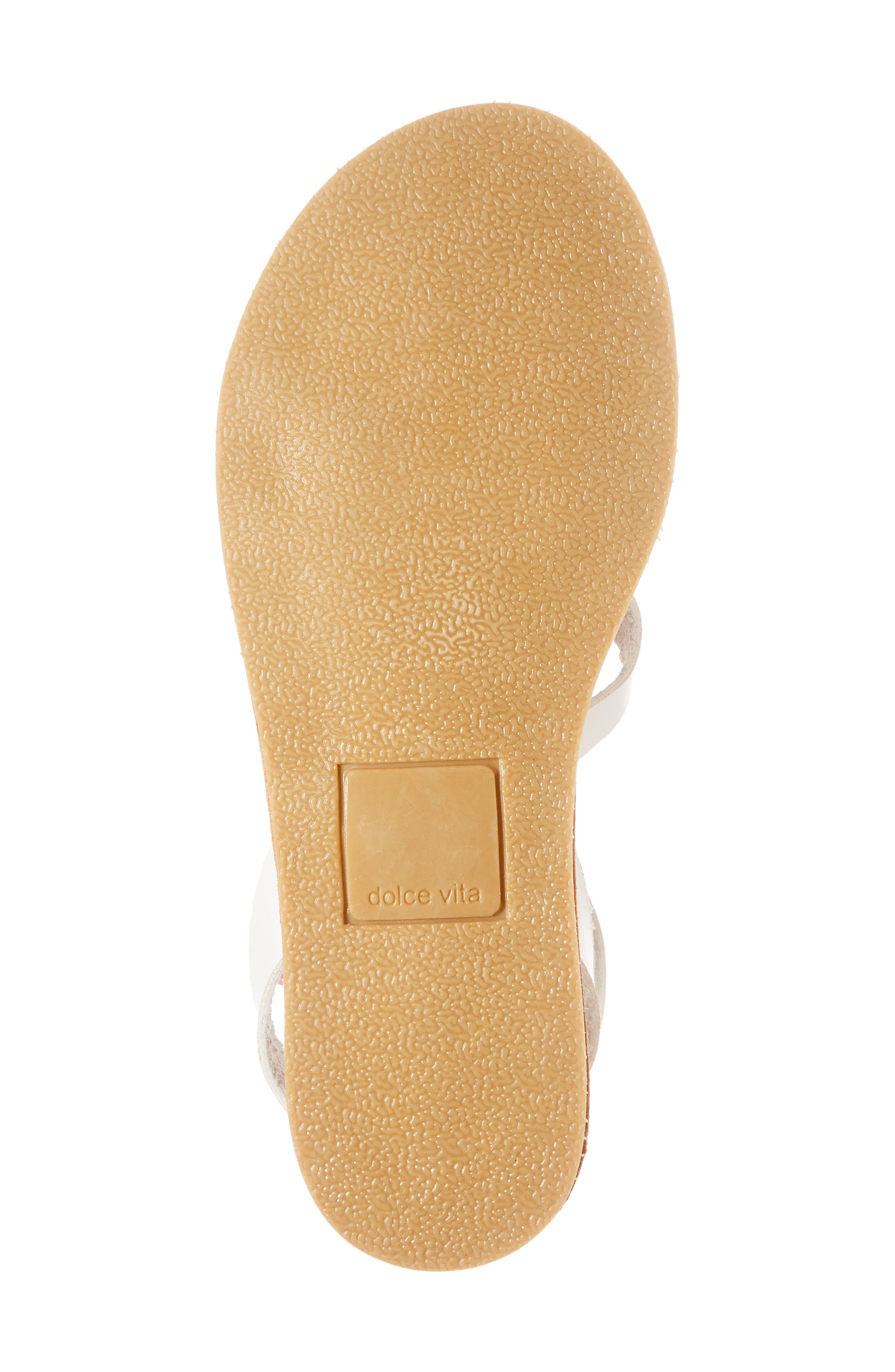 Jaclin Fruit Sequined Sandal,                             Alternate thumbnail 6, color,                             White