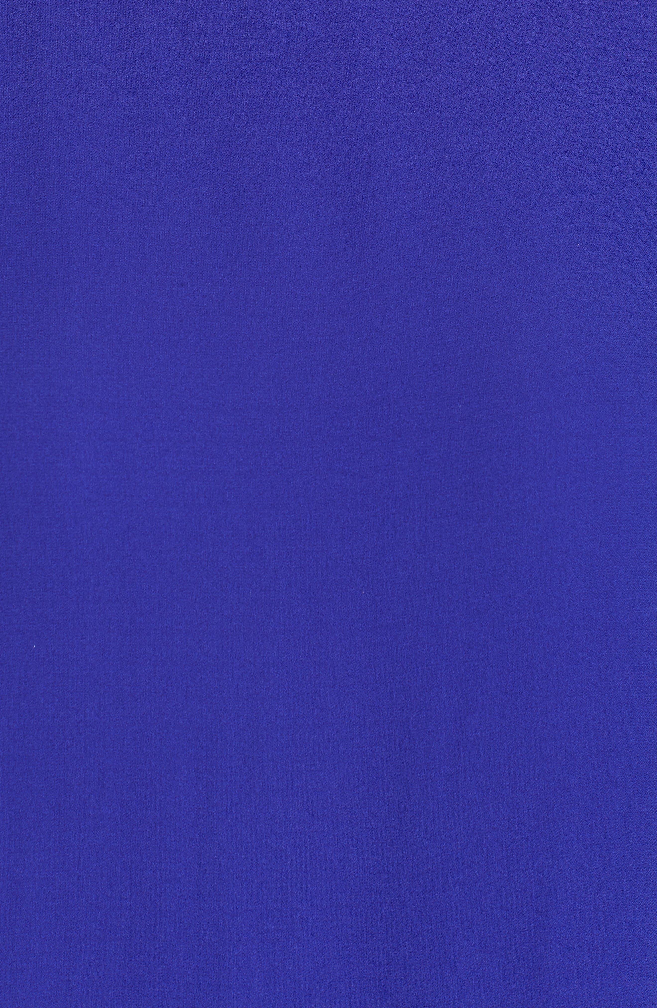 Drop Waist Silk Dress,                             Alternate thumbnail 6, color,                             Blue Violet