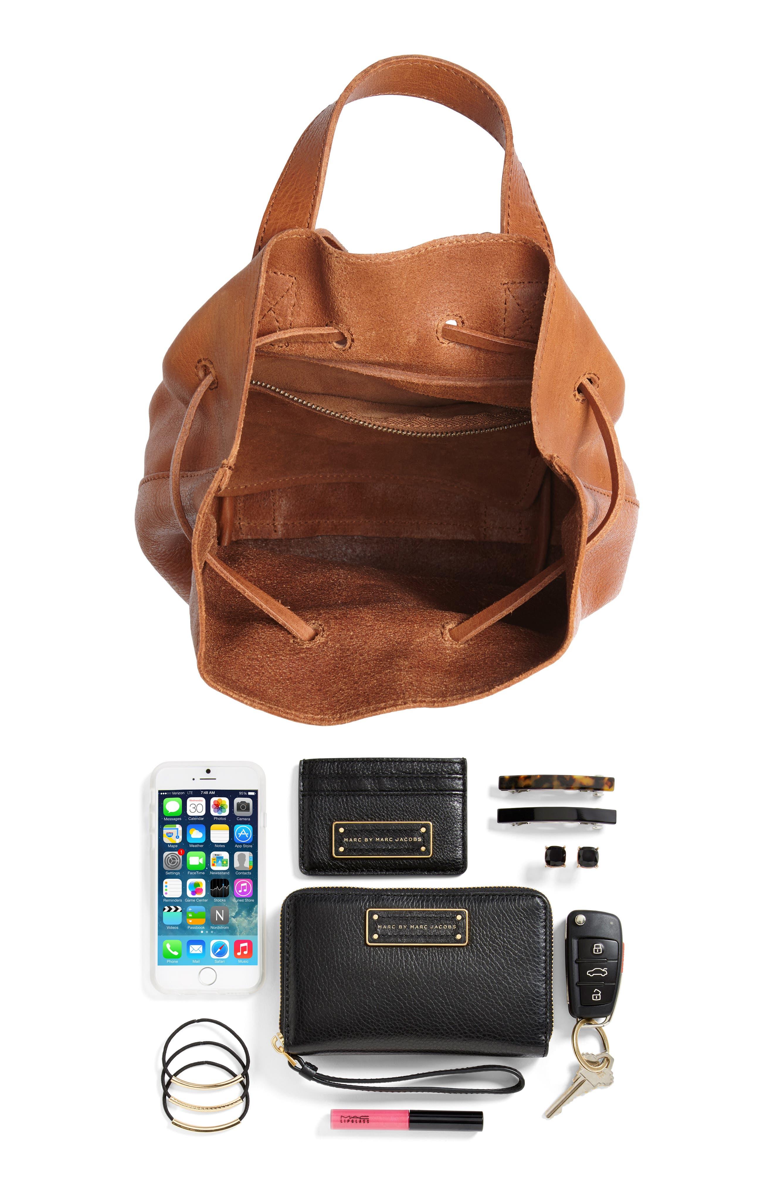Mini Somerset Leather Backpack,                             Alternate thumbnail 7, color,