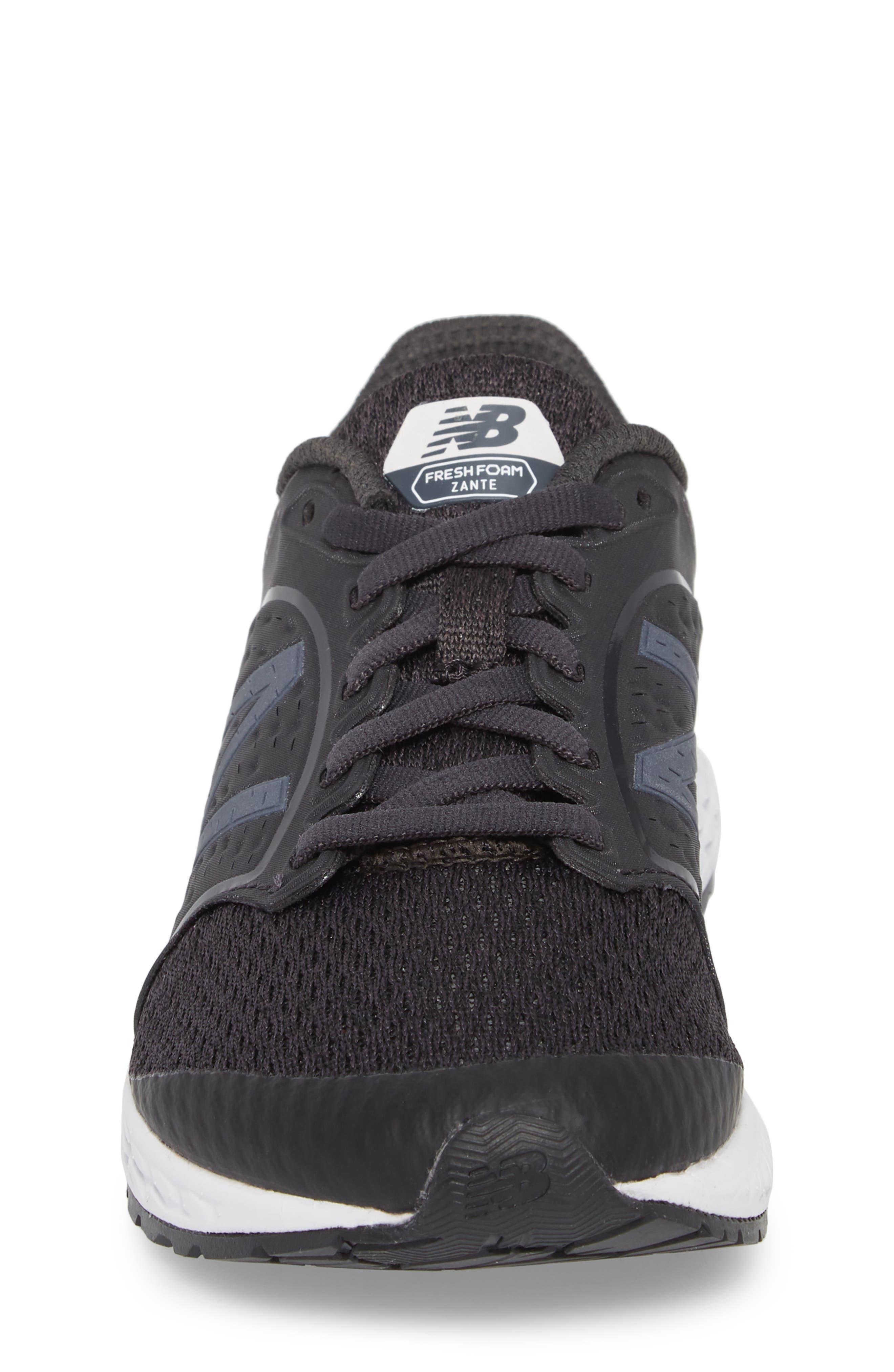Fresh Foam Zante v4 Running Shoe,                             Alternate thumbnail 4, color,                             Black/ White