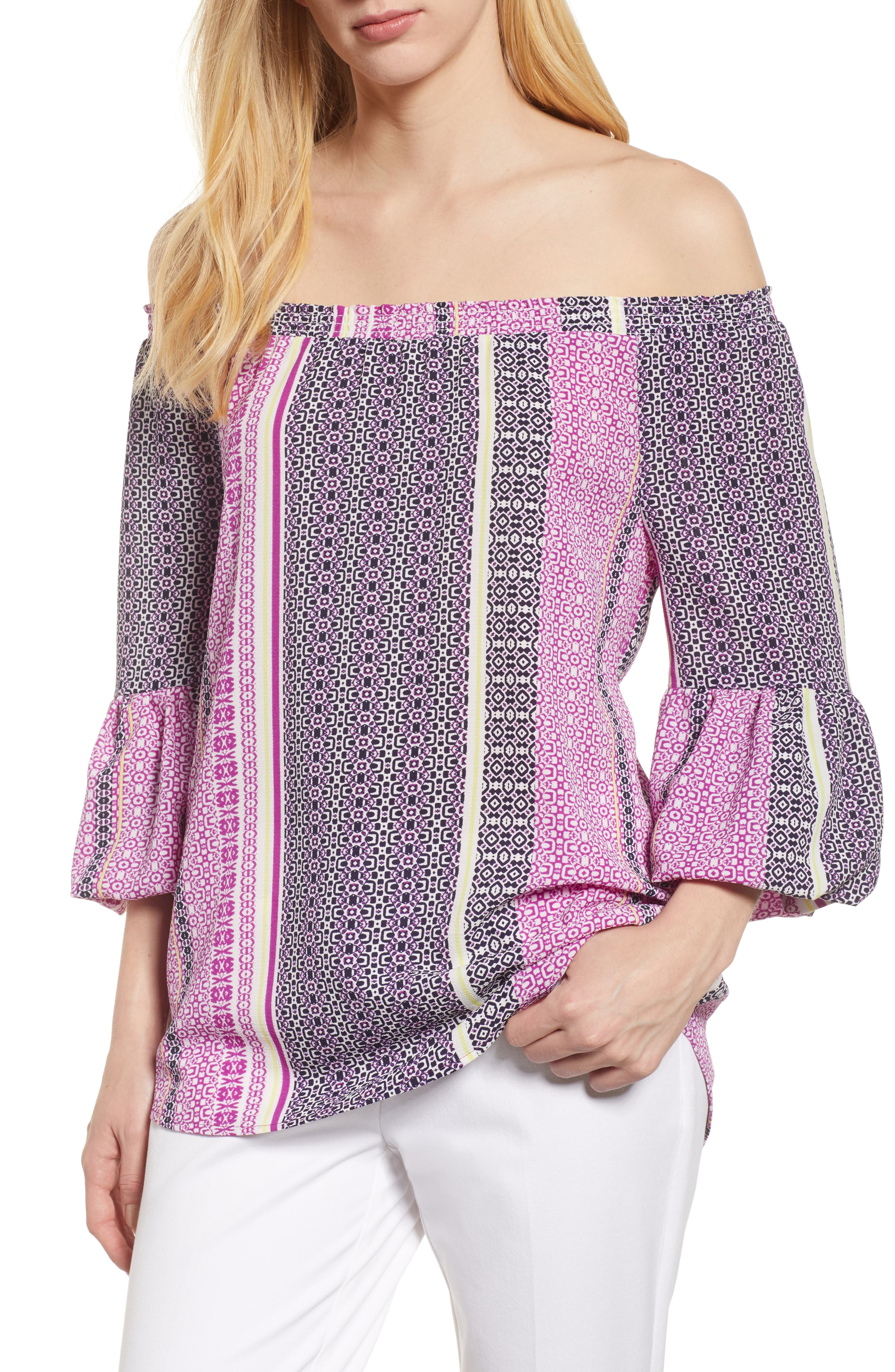 Chaus Off Shoulder Bell Sleeve Top