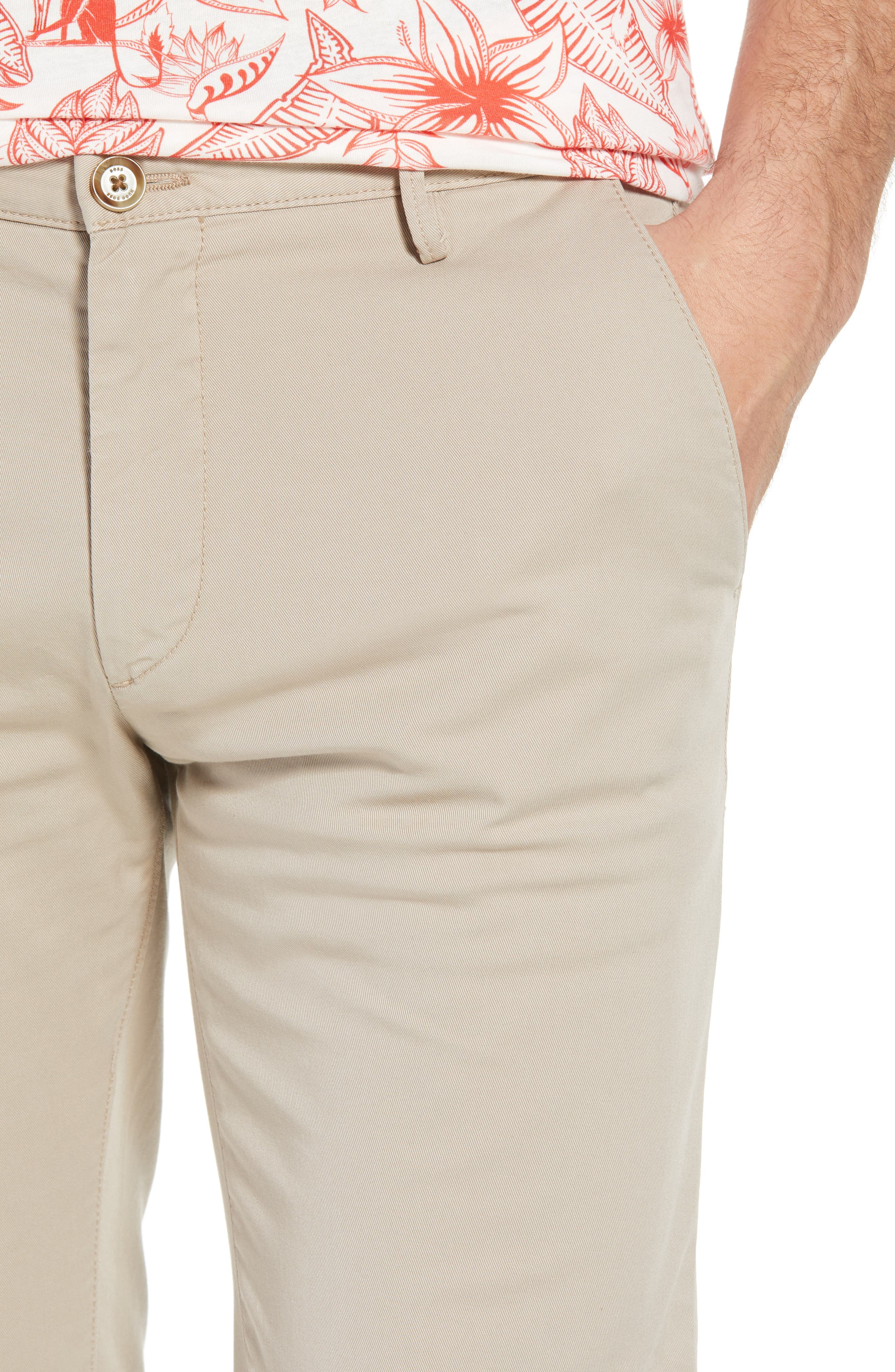 Rice Slim Fit Chino Pants,                             Alternate thumbnail 4, color,                             Brown
