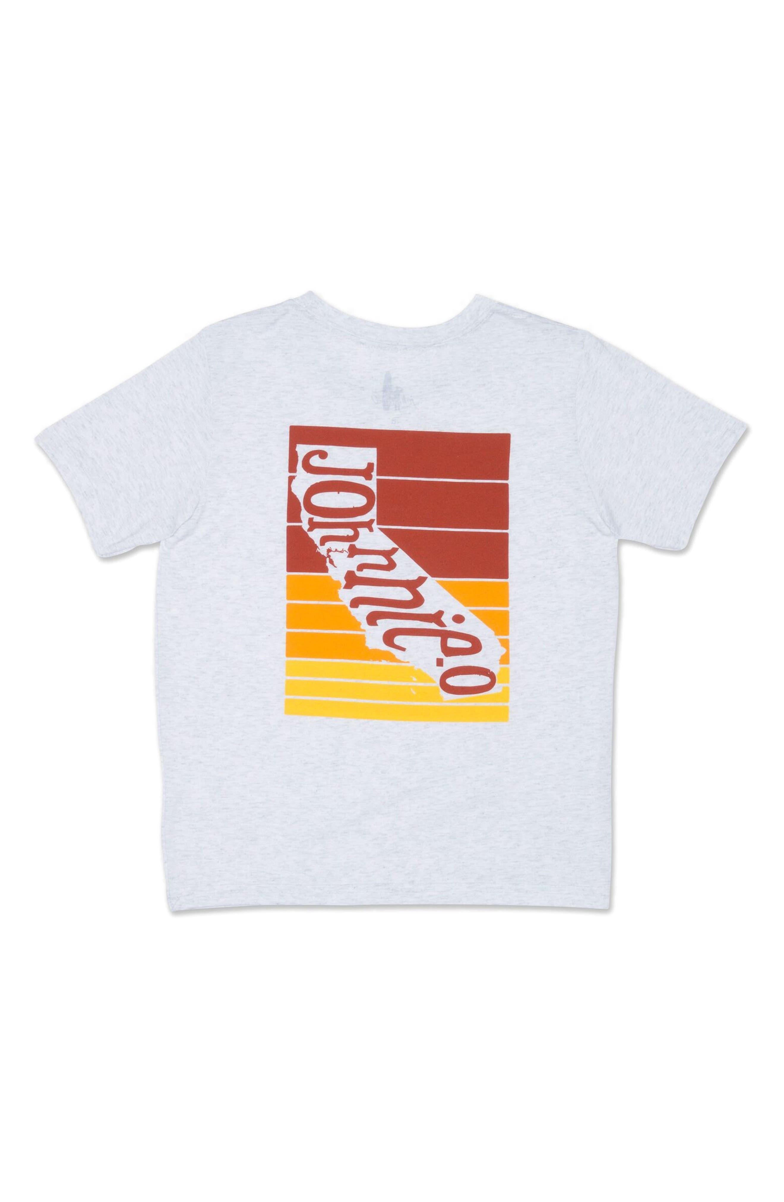 Cali Stripe T-Shirt,                             Alternate thumbnail 2, color,                             White