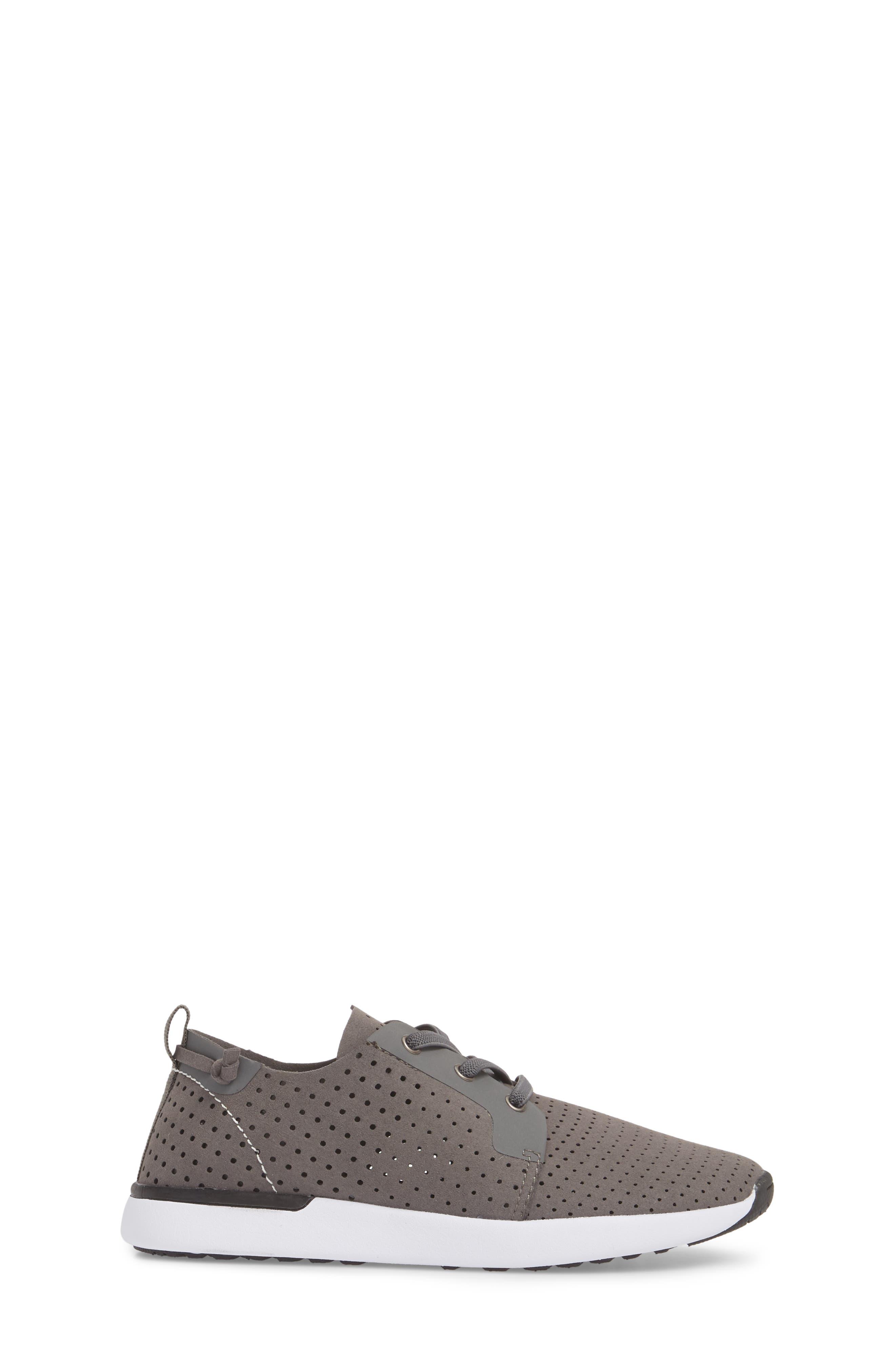 Brixxon Perforated Sneaker,                             Alternate thumbnail 3, color,                             Grey