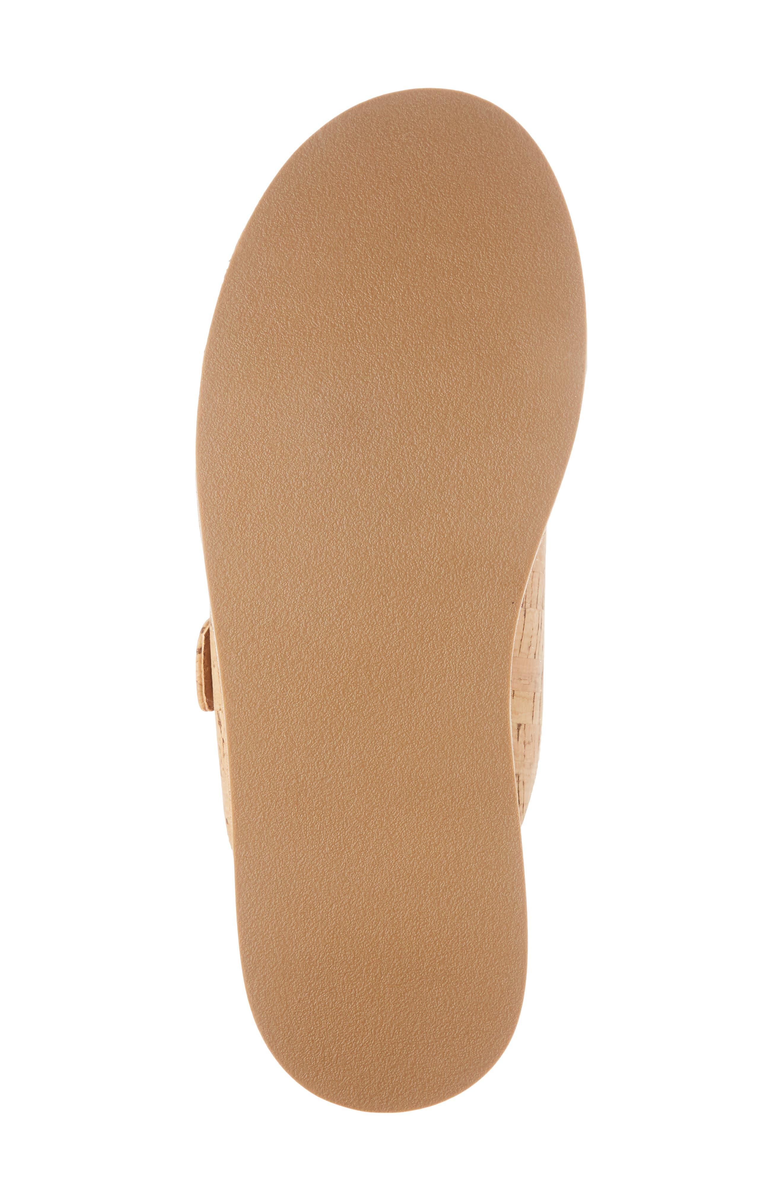 Jordan Two-Buckle Slide Sandal,                             Alternate thumbnail 6, color,                             Cork
