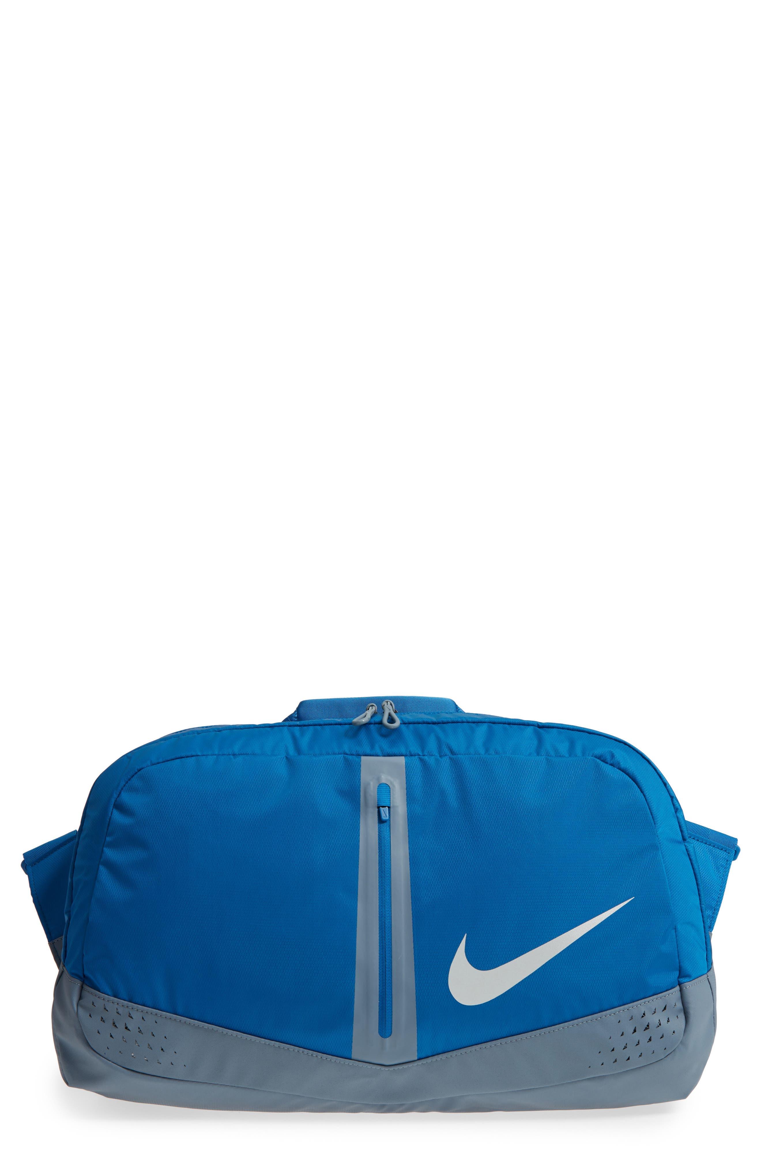 Run Duffel Bag,                             Main thumbnail 1, color,                             Blue Jay/ Armory Blue/ Silver