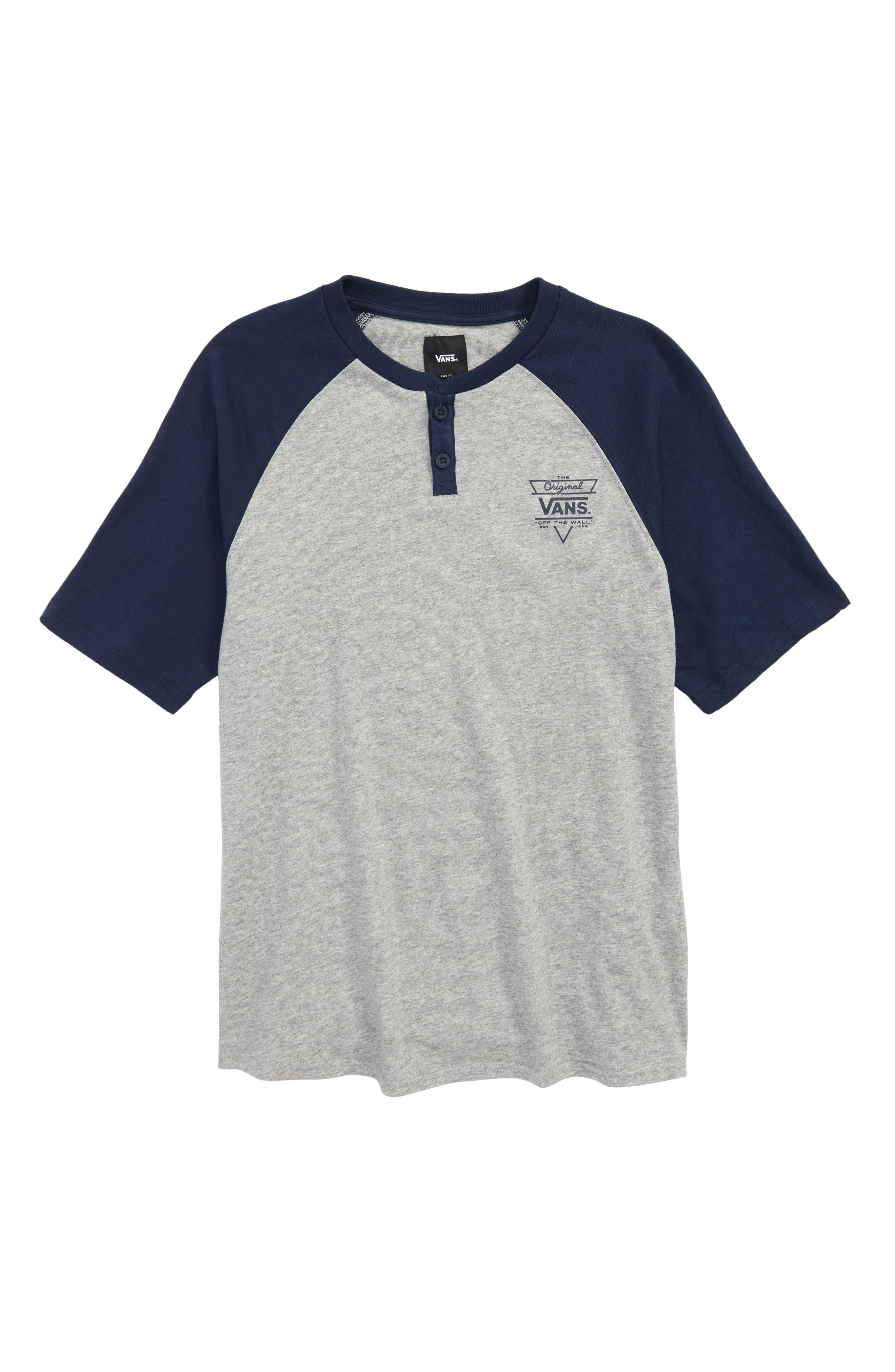 Hitson III Raglan Shirt,                         Main,                         color, Cement Heather