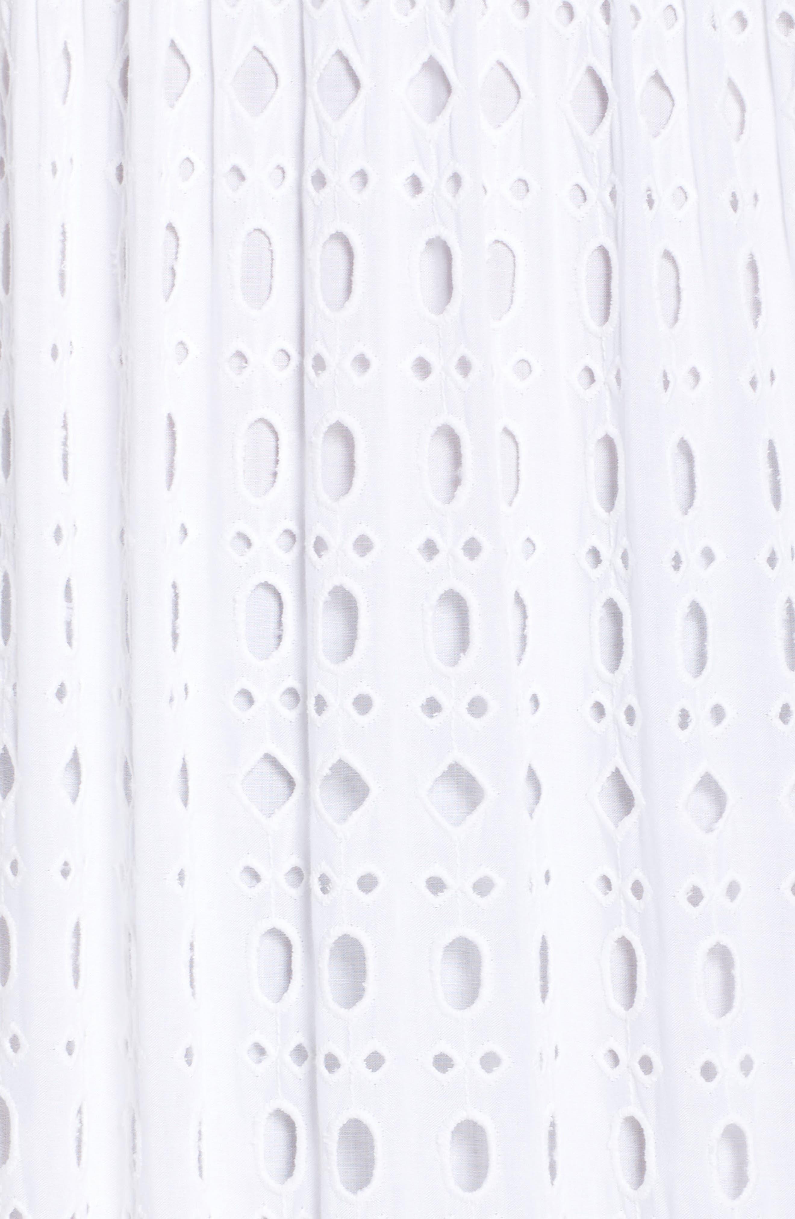 Melody Maxi Dress,                             Alternate thumbnail 5, color,                             Resort White Eyelet