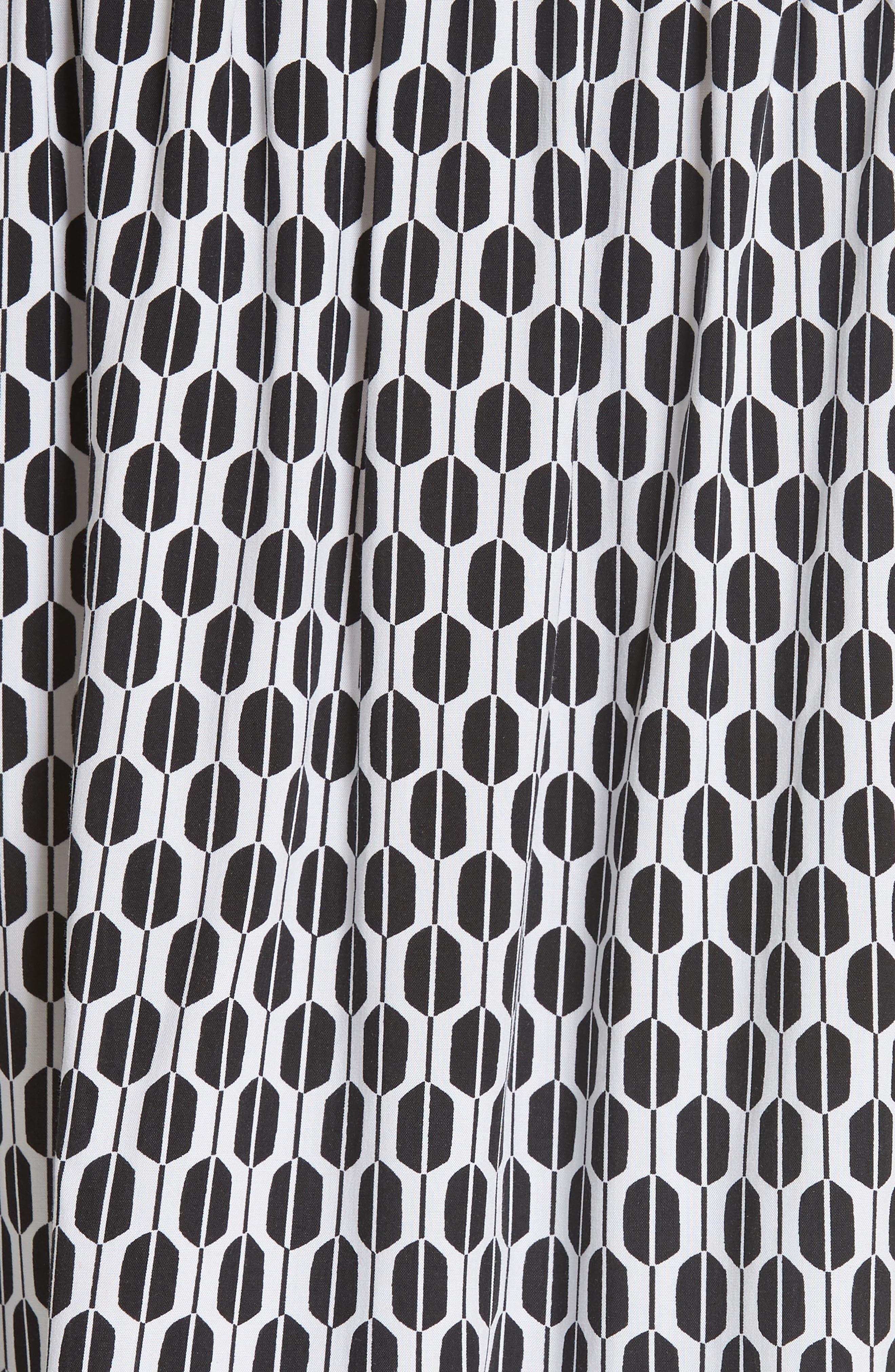 arrow stripe off the shoulder top,                             Alternate thumbnail 3, color,                             Fresh White/ Black