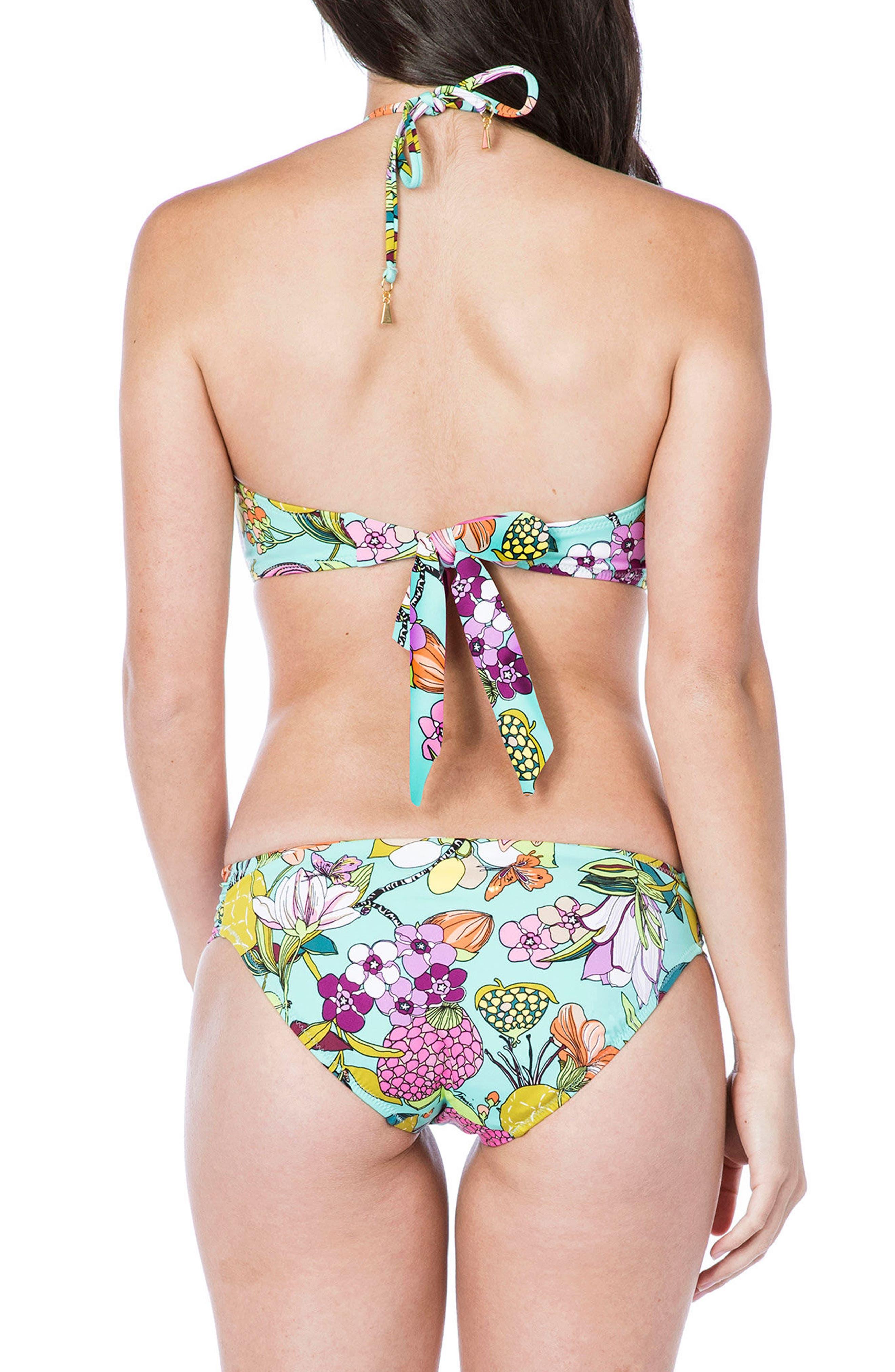 Key West Bandeau Bikini Top,                             Alternate thumbnail 4, color,                             Aqua