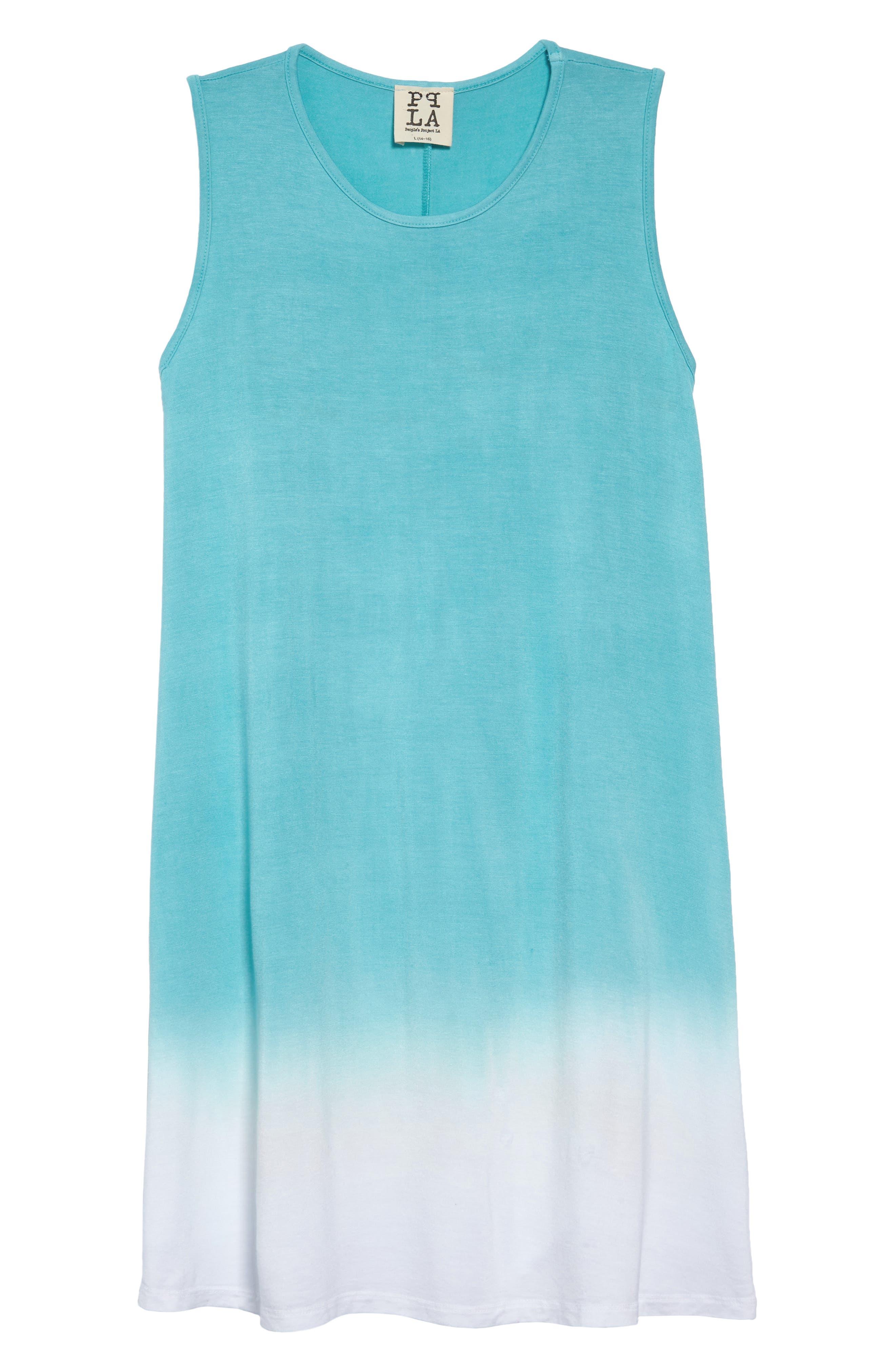 Grenadine Ombré T-Shirt Dress,                         Main,                         color, Pool Blue
