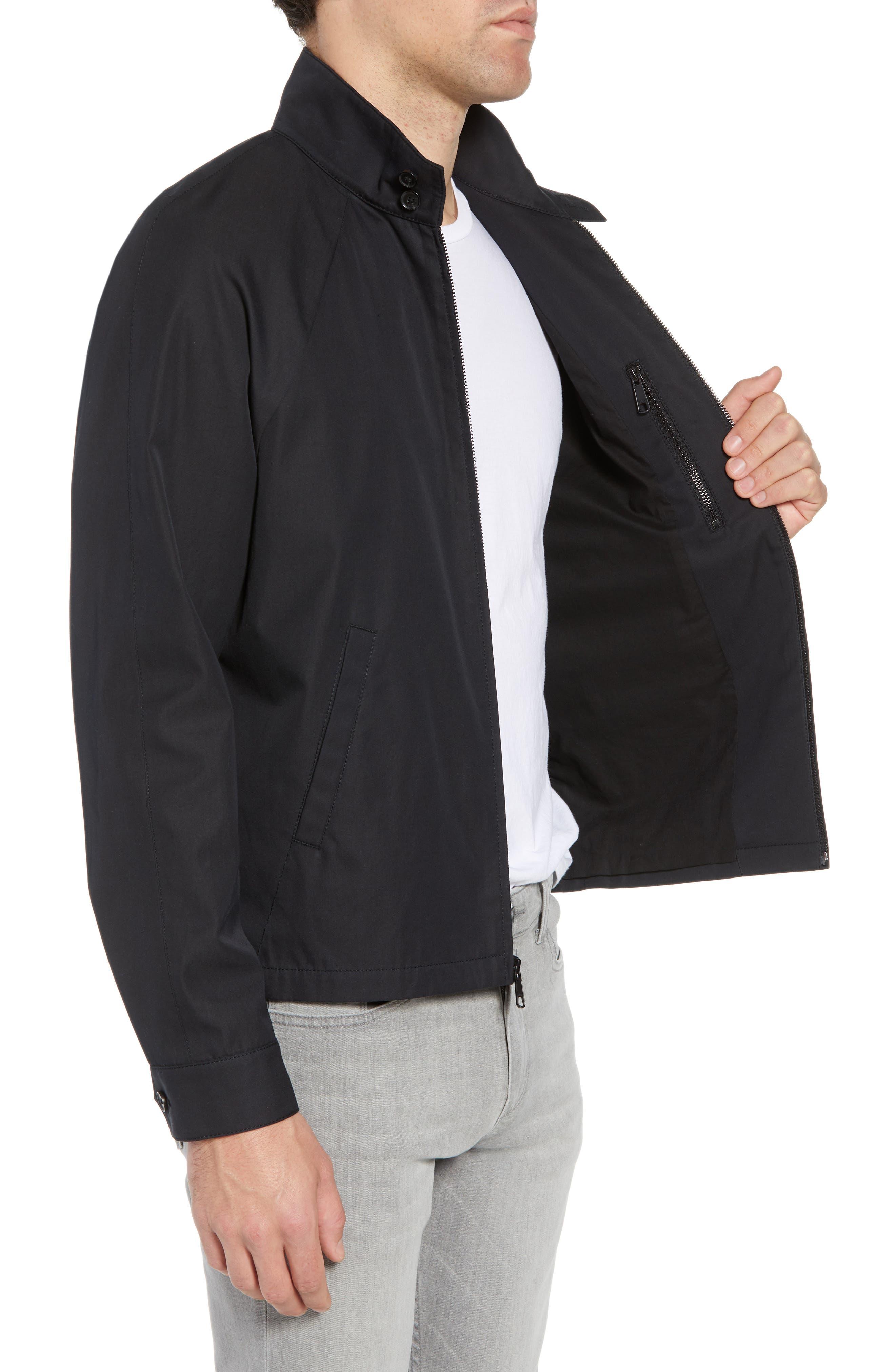 Regular Fit Jacket,                             Alternate thumbnail 3, color,                             Black