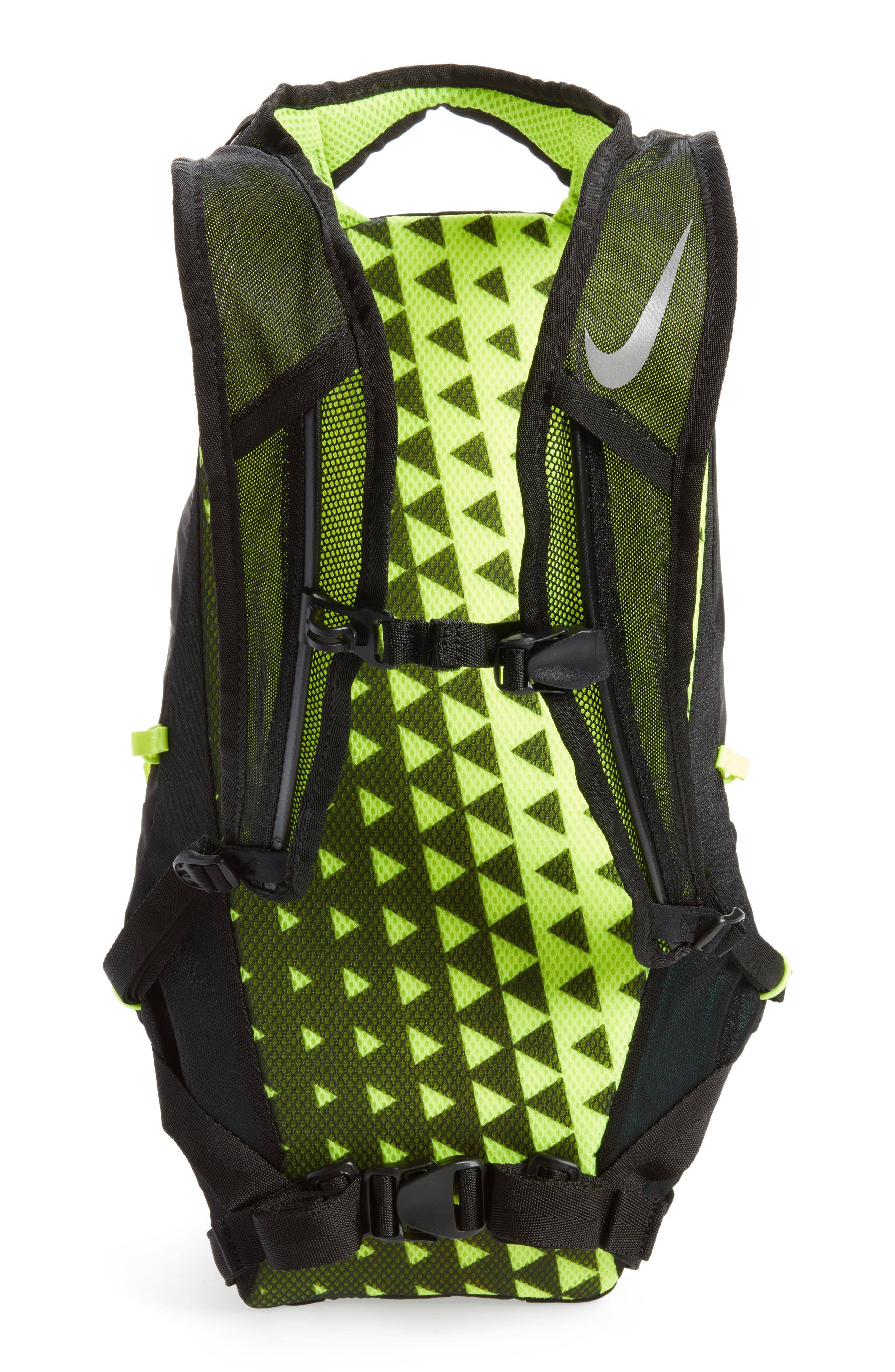 Run Commuter Backpack,                             Alternate thumbnail 3, color,                             Black/ Volt/ Silver