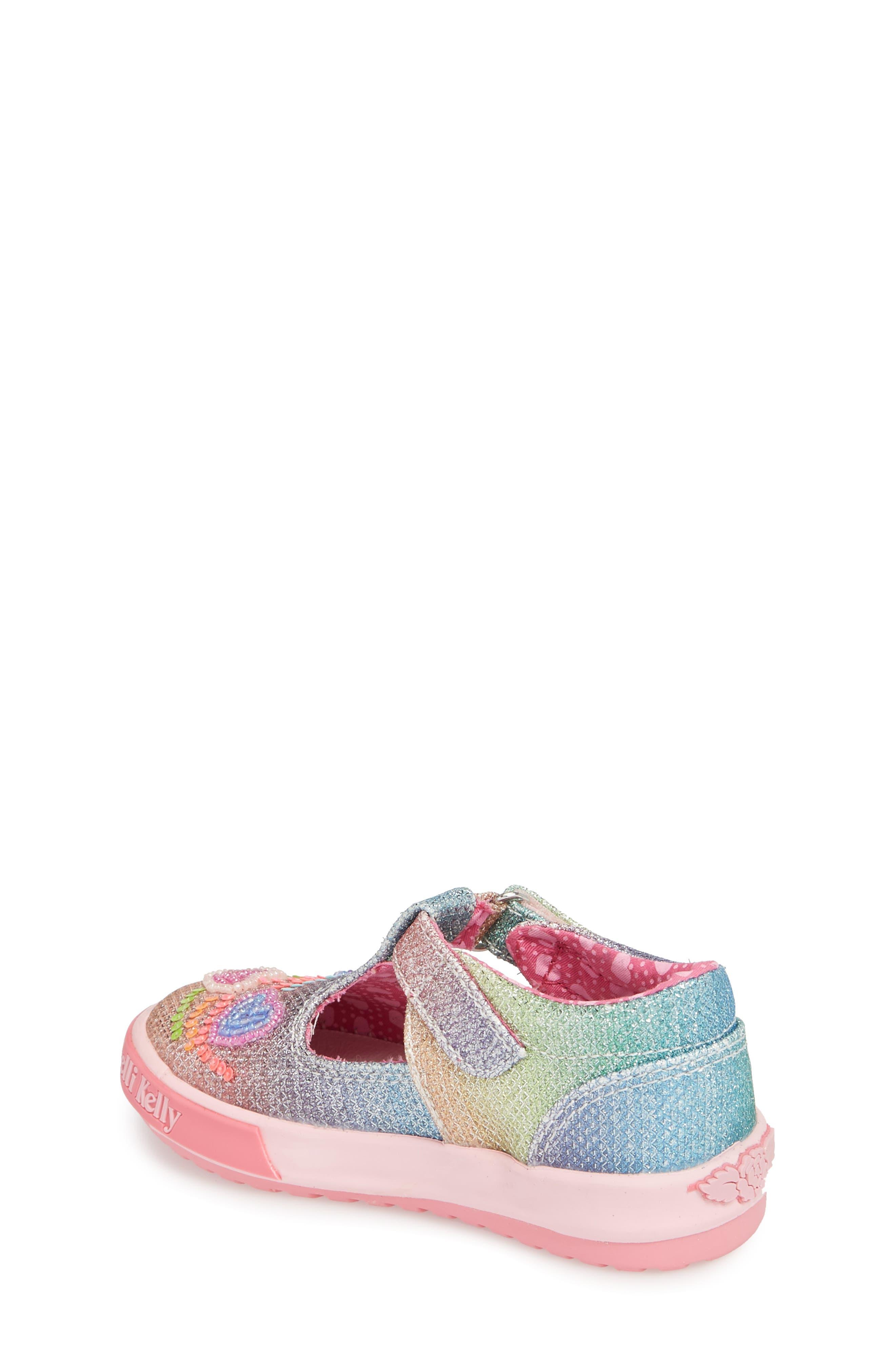 Glitter Metallic T-Strap Mary Jane,                             Alternate thumbnail 2, color,                             Pink
