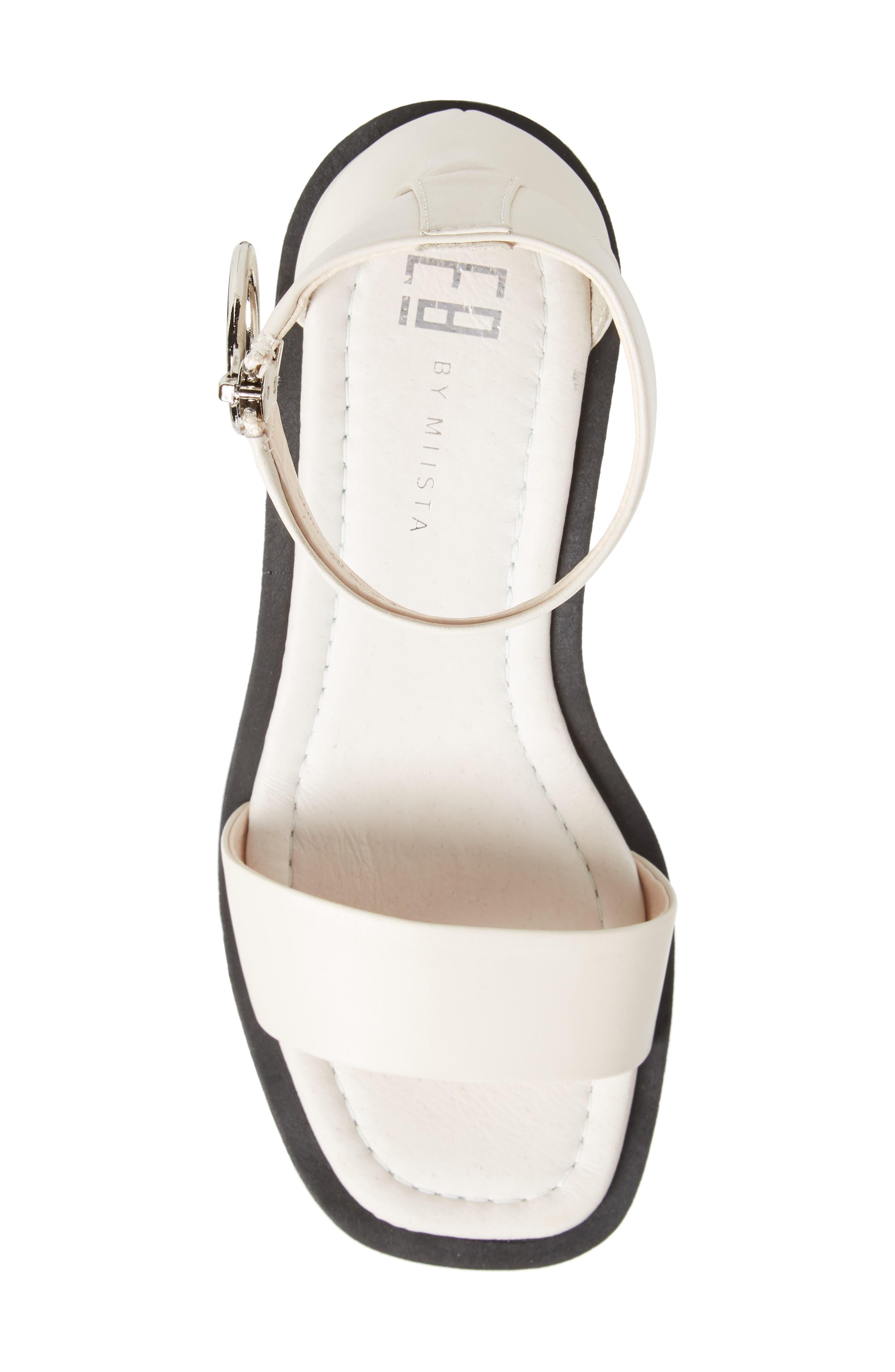Savannah Cuff Platform Sandal,                             Alternate thumbnail 5, color,                             Cream Leather