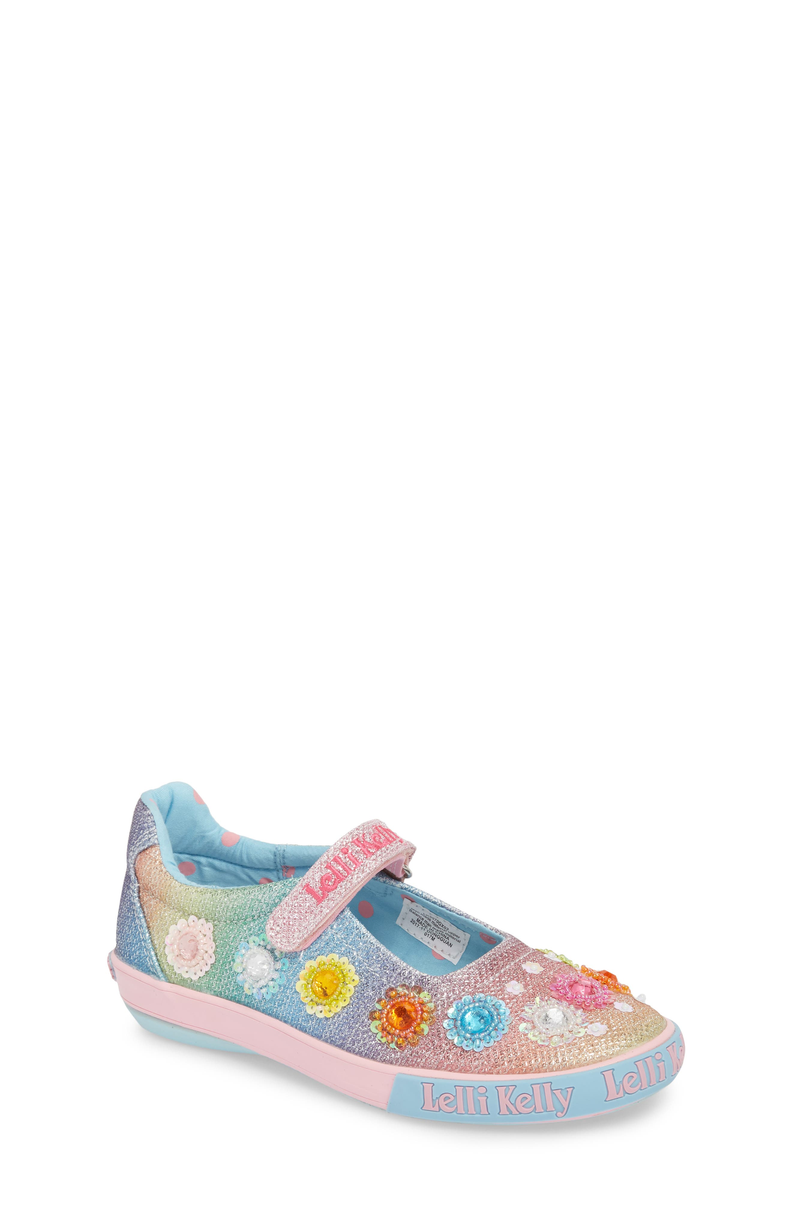 Beaded Mary Jane Sneaker,                         Main,                         color, Blue