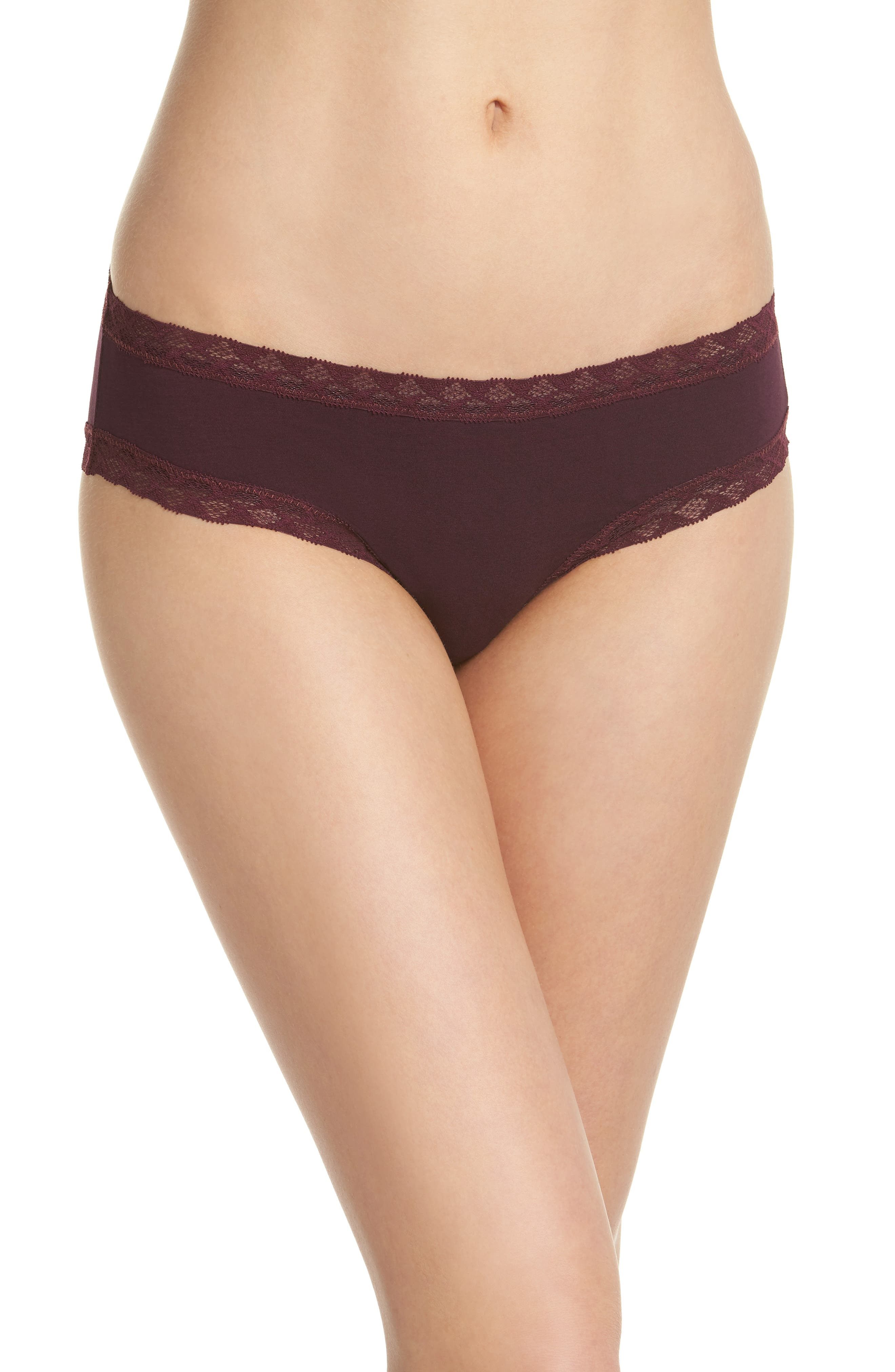 Bliss Cotton Girl Briefs,                         Main,                         color, Potent Purple