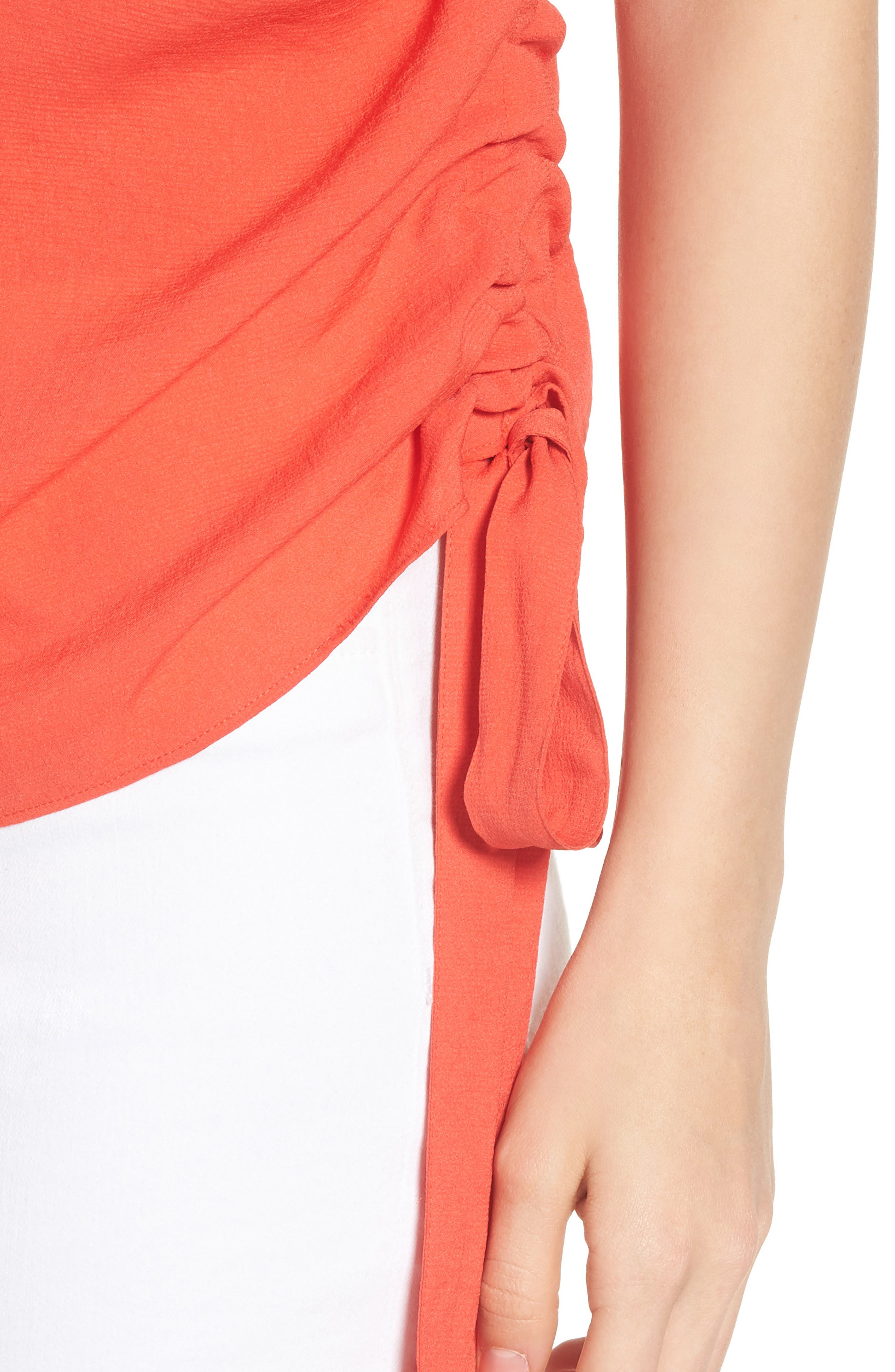 Side Cinch Tank,                             Alternate thumbnail 4, color,                             Red Poppy