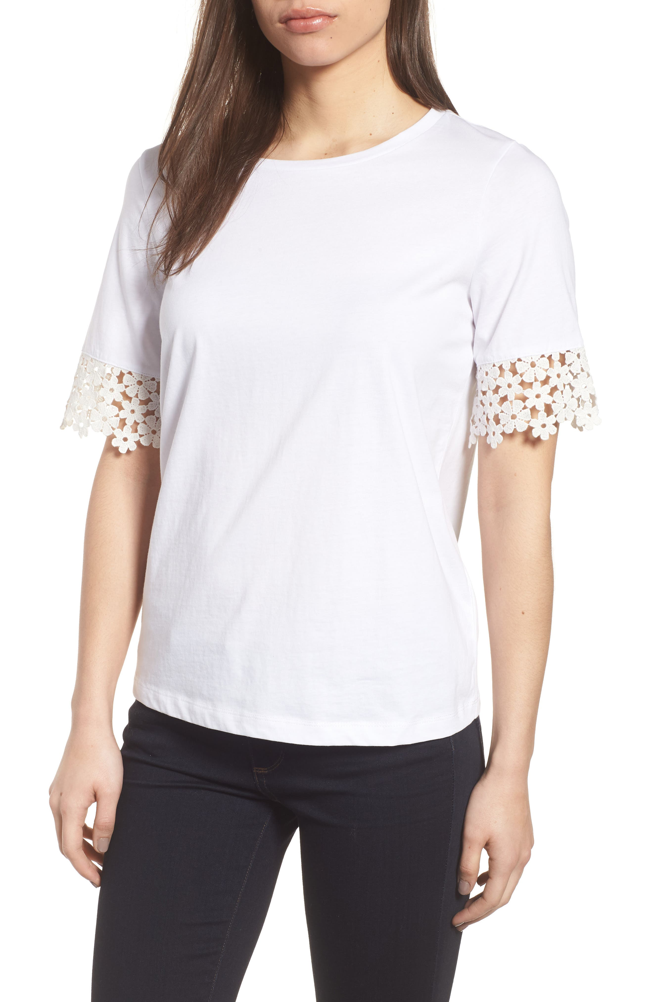 Draper James Palmetto Lace Tee Shirt
