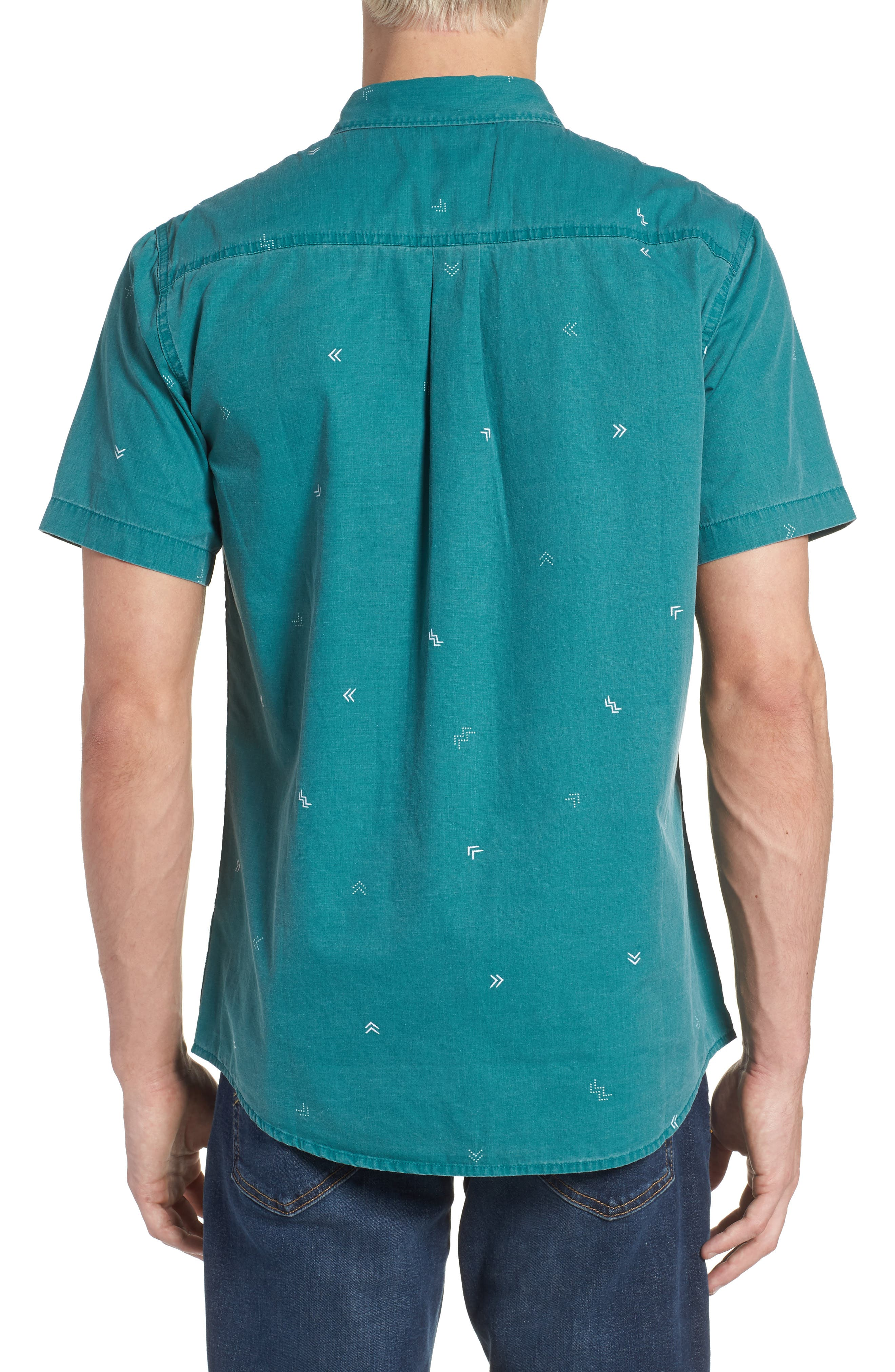 Kruger Woven Shirt,                             Alternate thumbnail 3, color,                             Jade