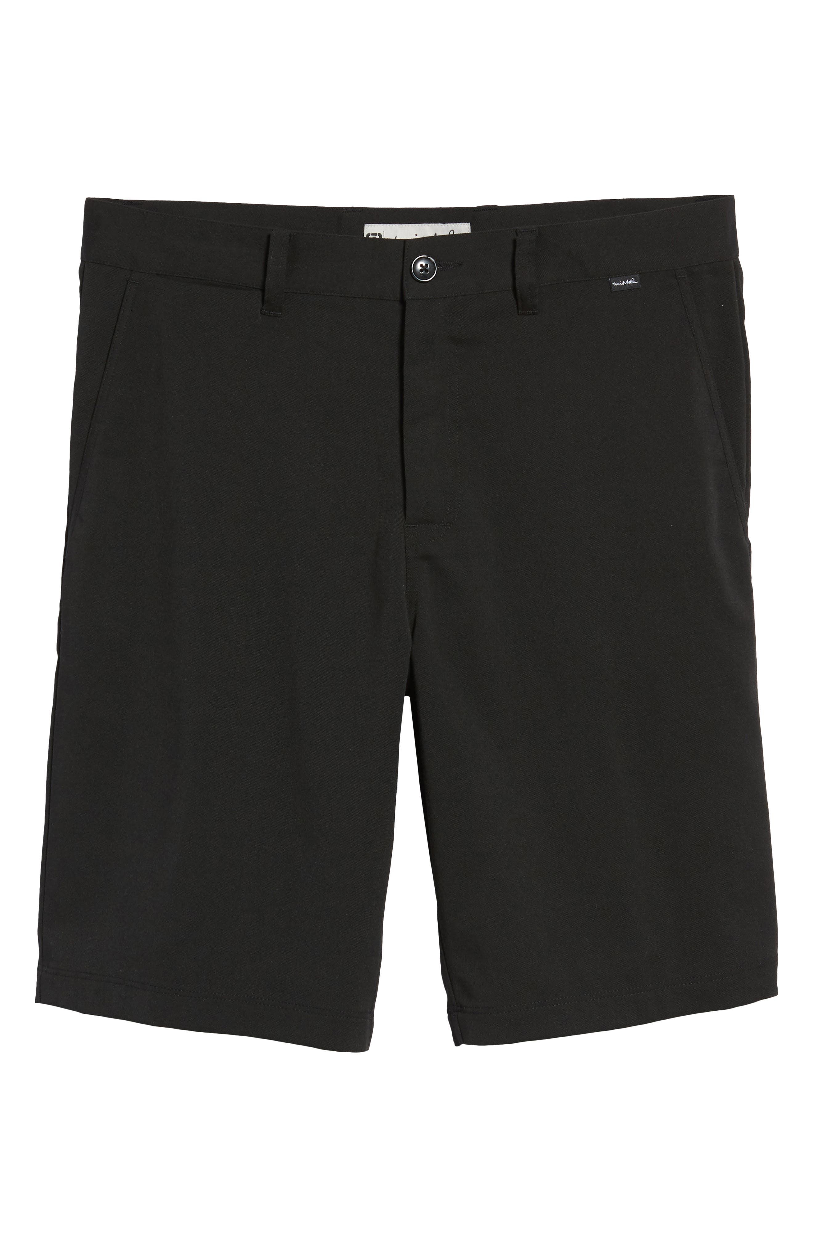 Puebla Stretch Shorts,                             Alternate thumbnail 6, color,                             Black