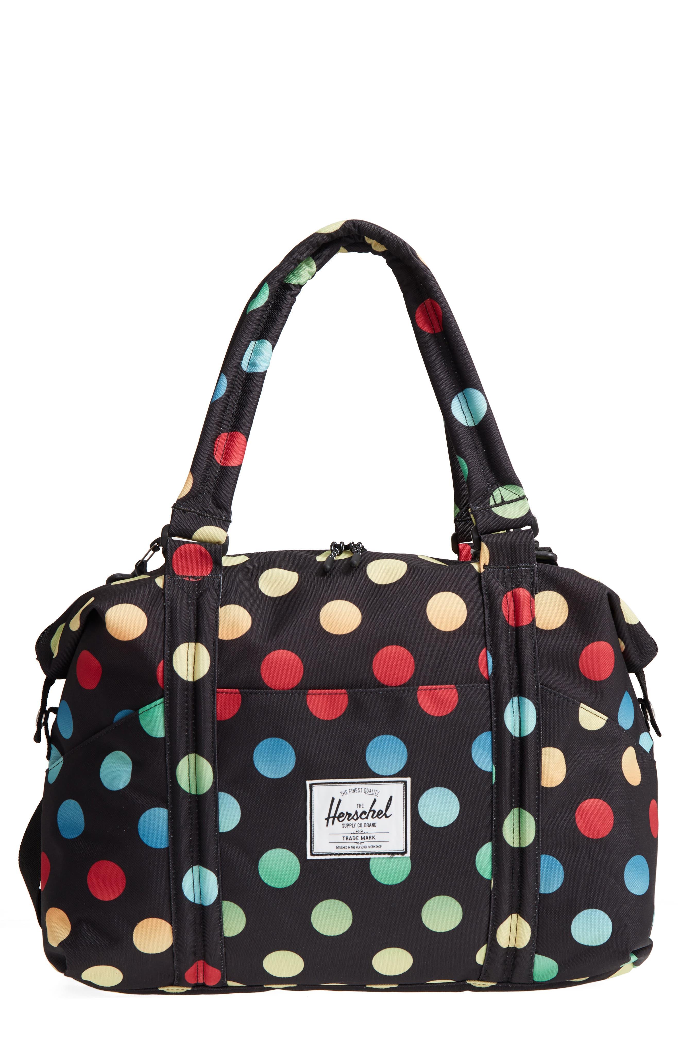 Sprout Diaper Bag,                         Main,                         color, Black Rainbow