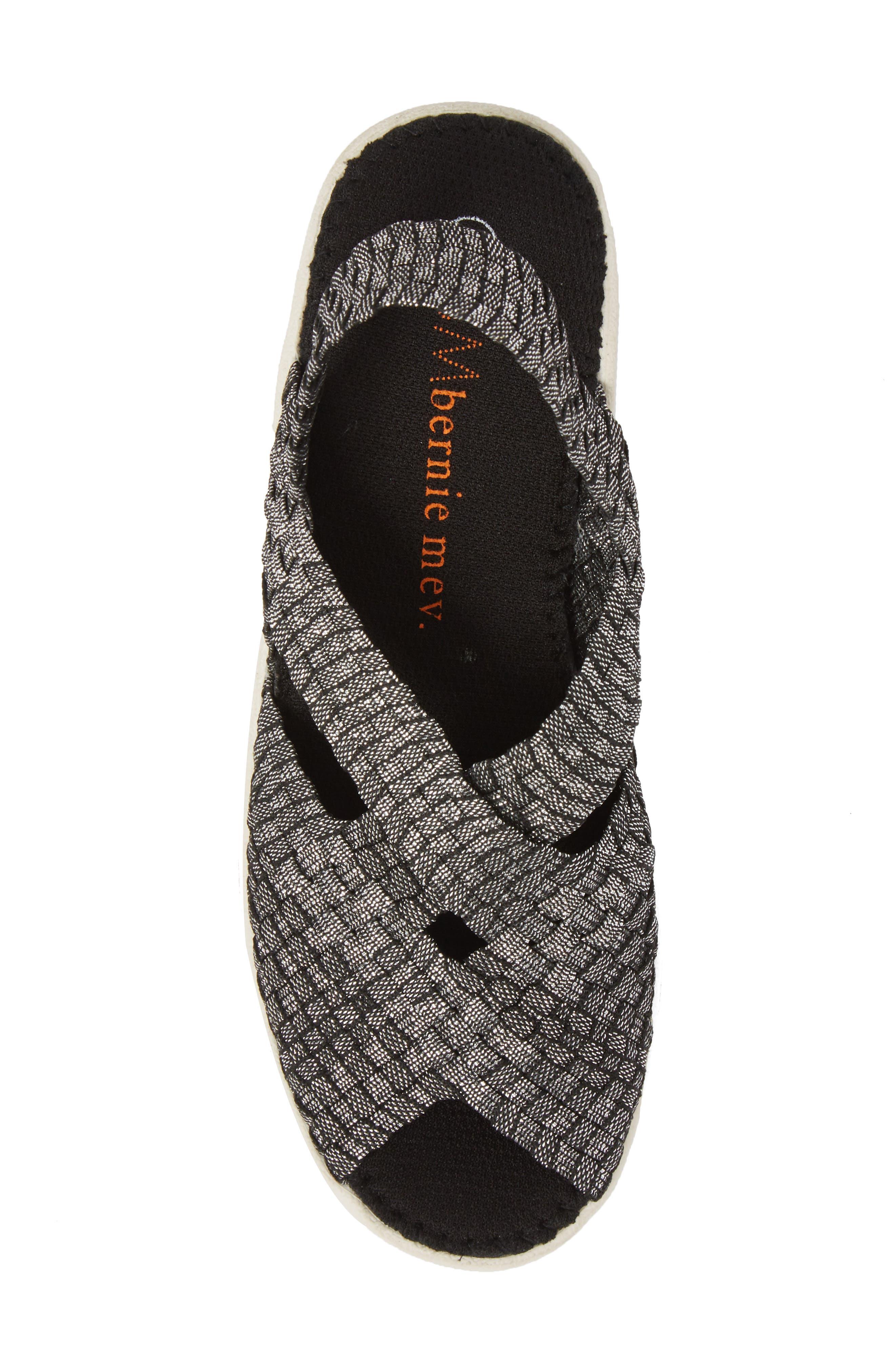 Lux Gigi Wedge Sandal,                             Alternate thumbnail 5, color,                             Black Shimmer