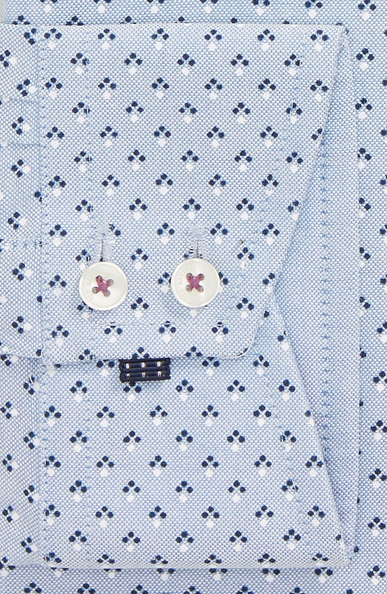 Forestr Trim Fit Geometric Dress Shirt,                             Alternate thumbnail 5, color,                             Blue