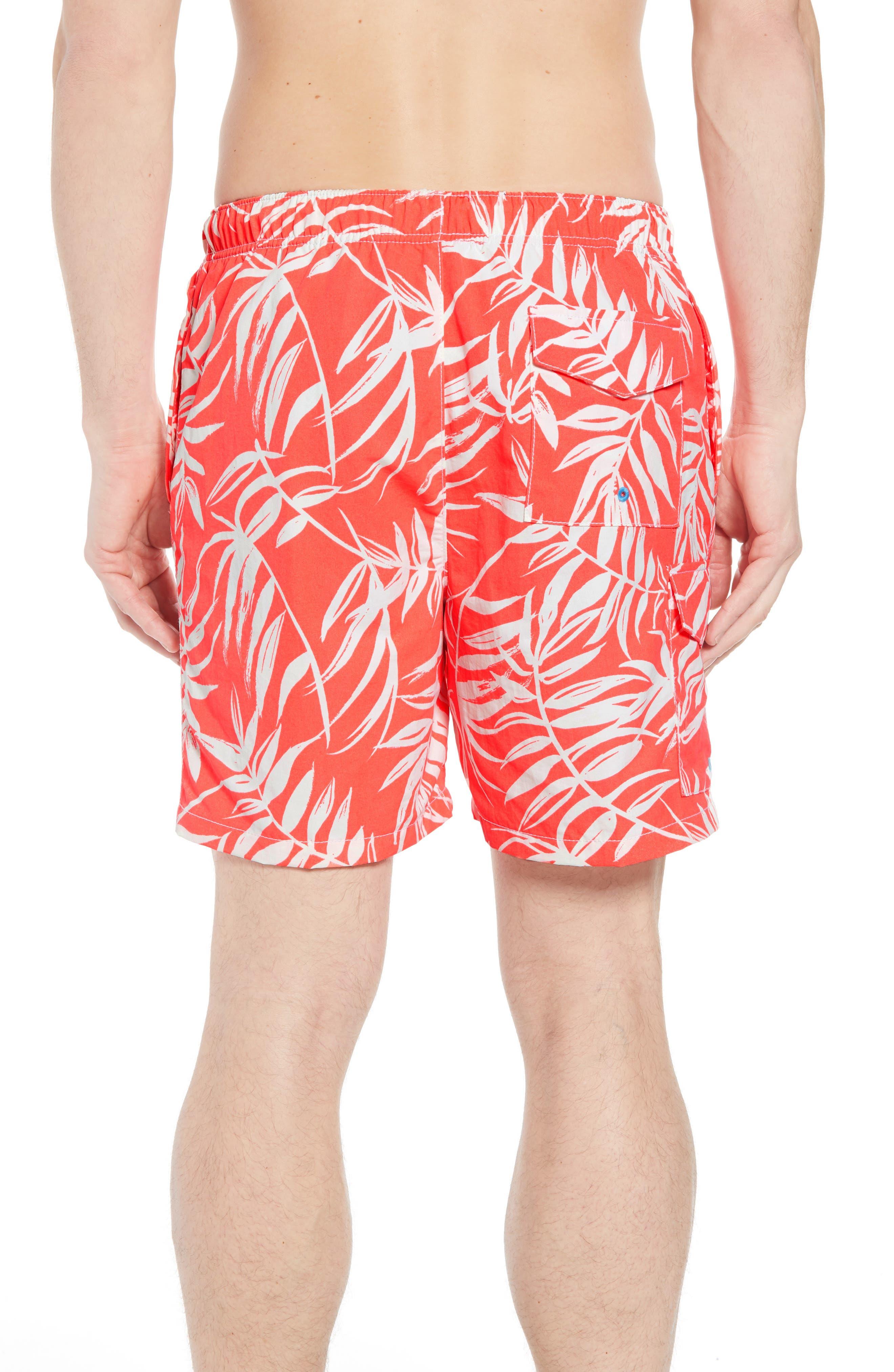 Naples Muy Caliente Swim Trunks,                             Alternate thumbnail 2, color,                             Electric Coral
