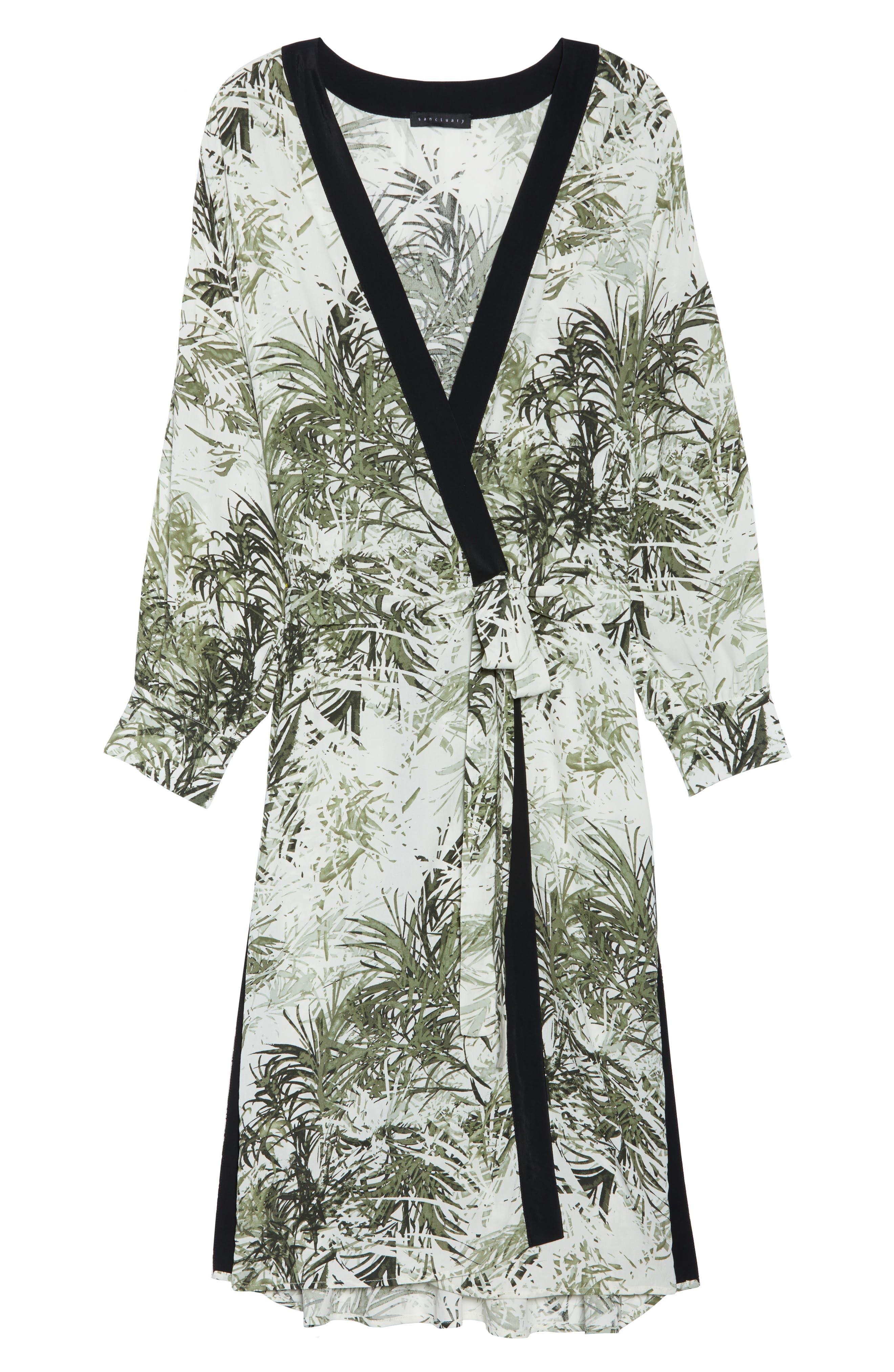 Calico Kimono,                             Alternate thumbnail 4, color,                             Tiki Palm