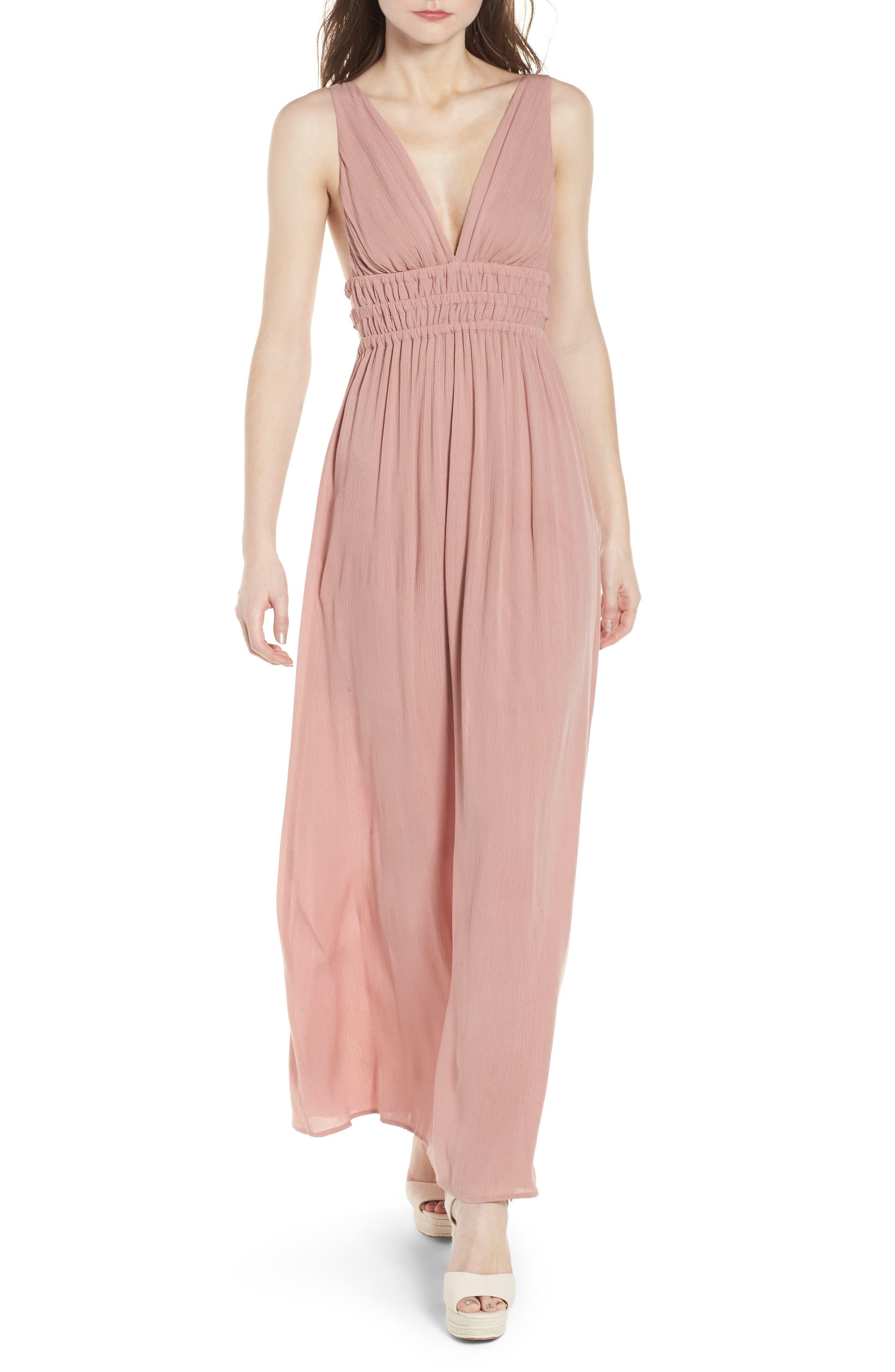 Surrey Maxi Dress,                         Main,                         color, Nude Rose
