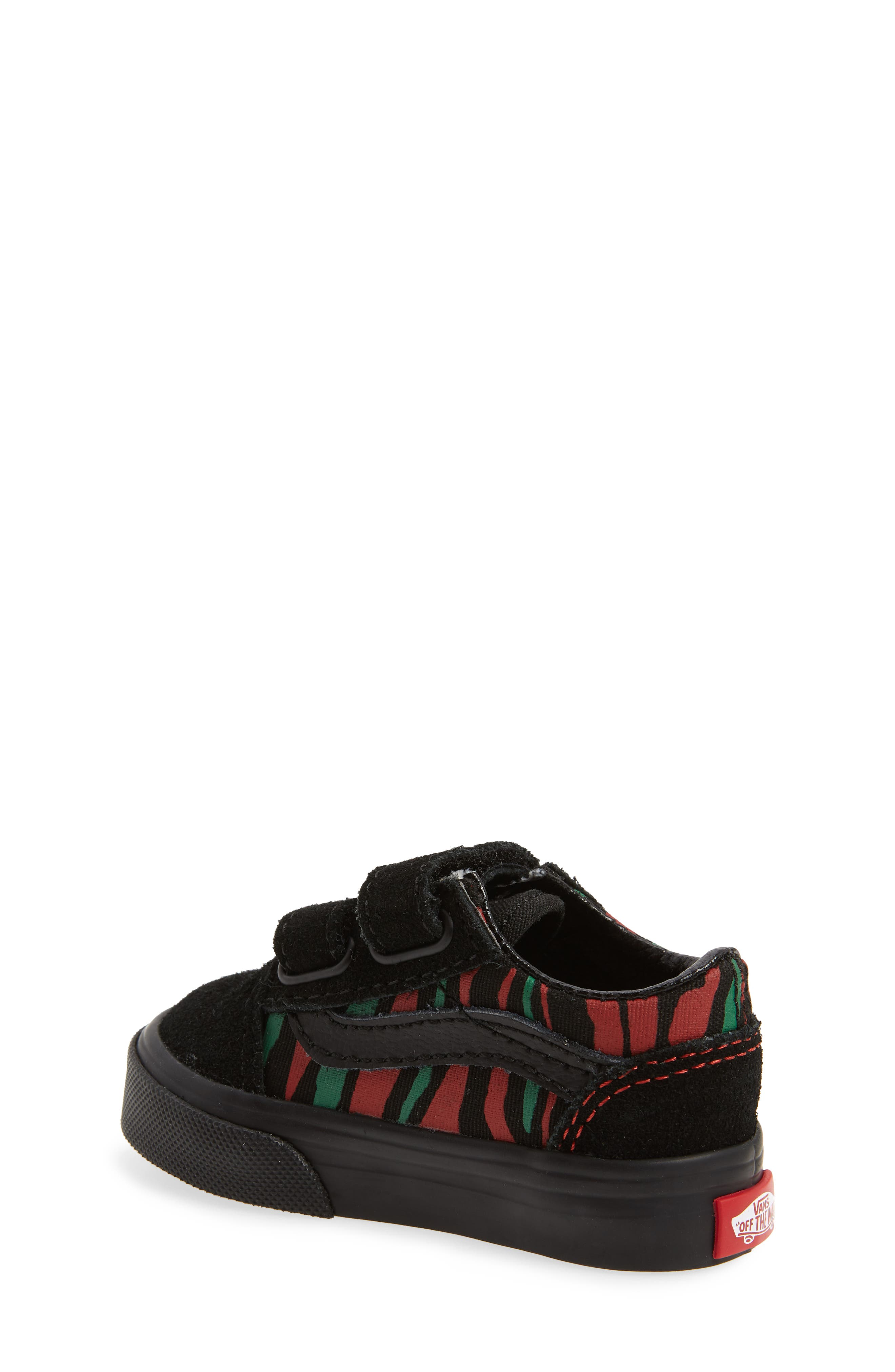 Old Skool V Sneaker,                             Alternate thumbnail 2, color,                             Black