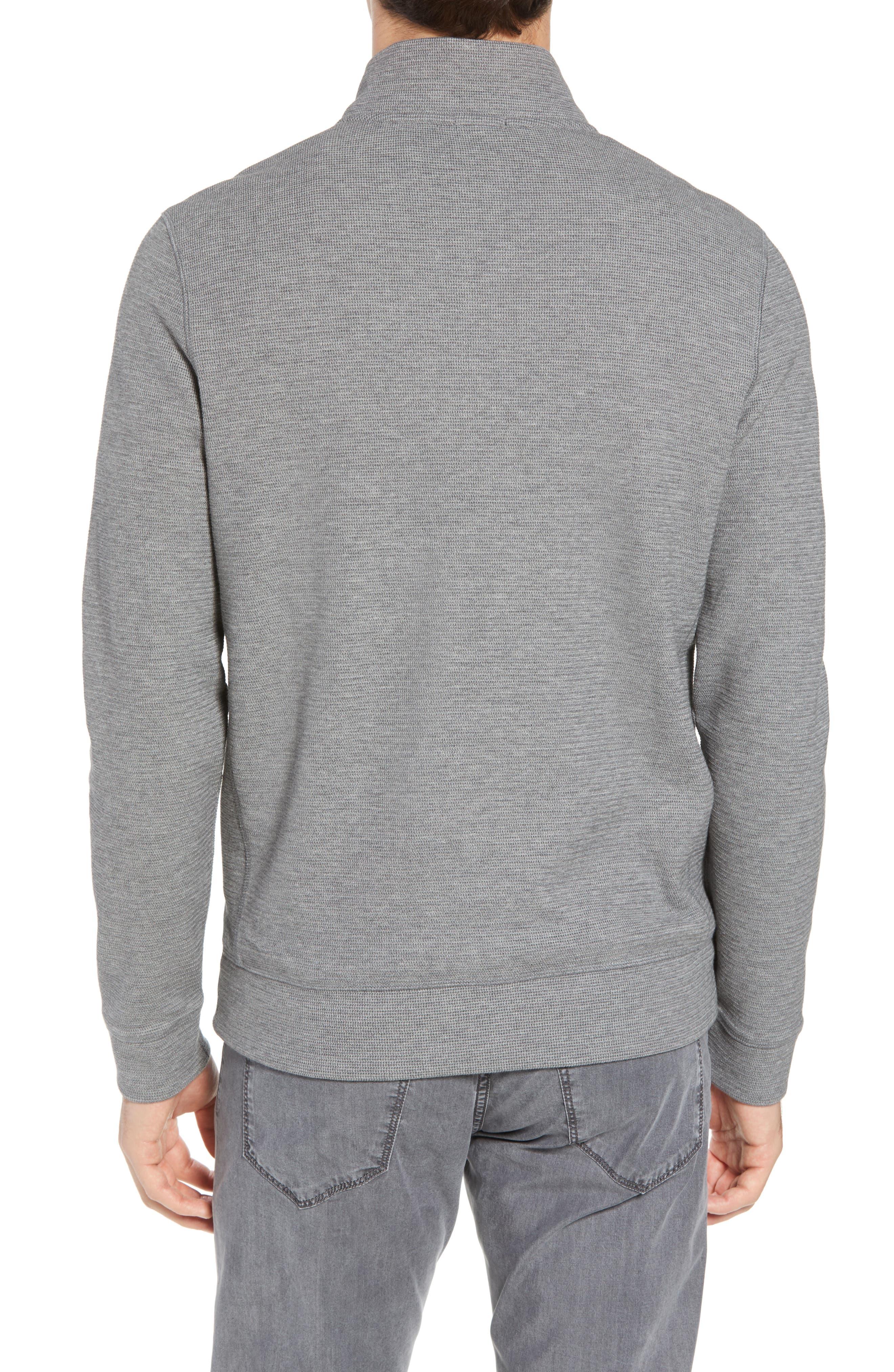 Hugo Boss Regular Fit Sidney Quarter Zip Pullover,                             Alternate thumbnail 2, color,                             Grey