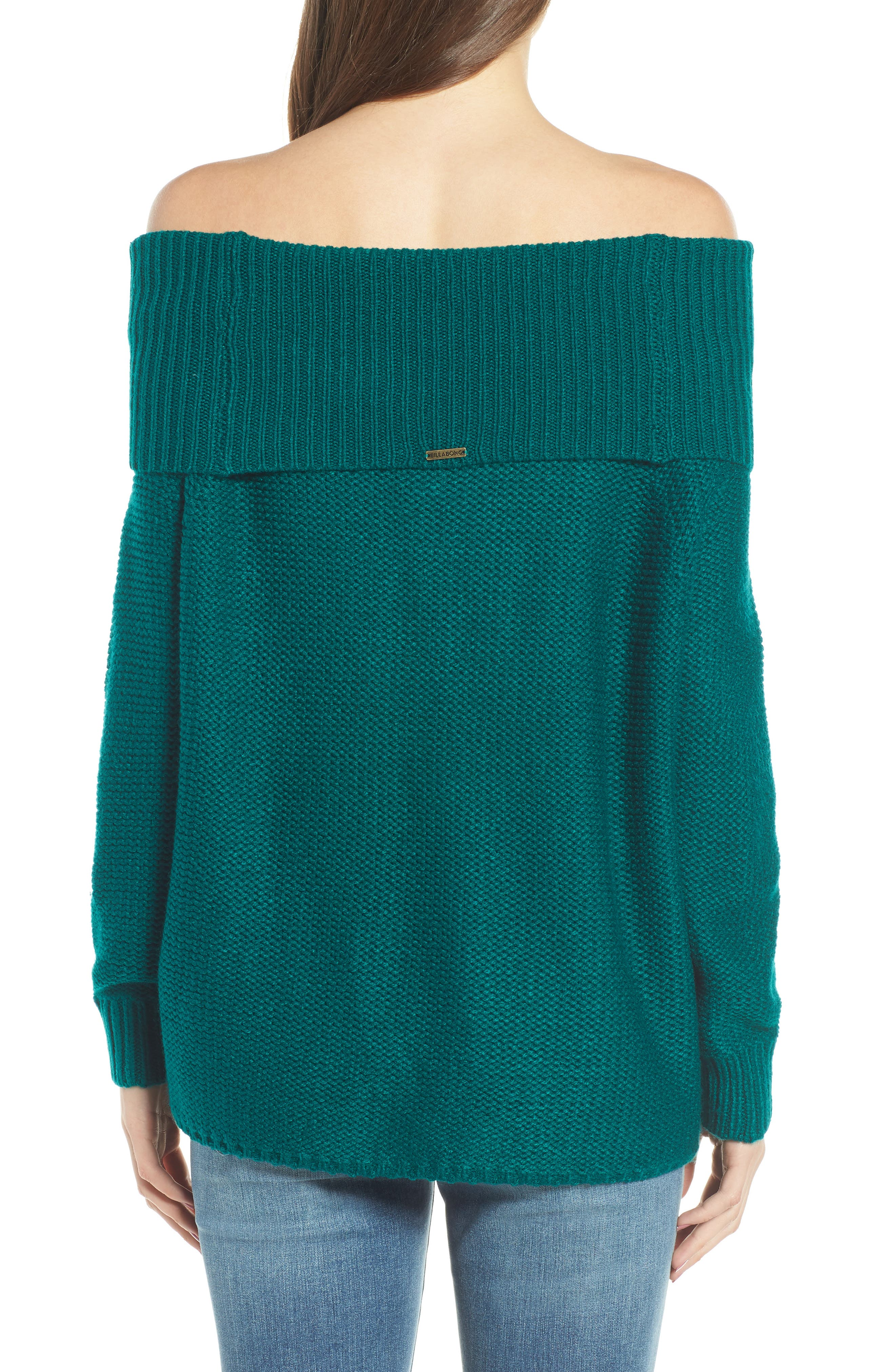 Off Shore Cable Knit Sweater,                             Alternate thumbnail 2, color,                             Deep Lagoon