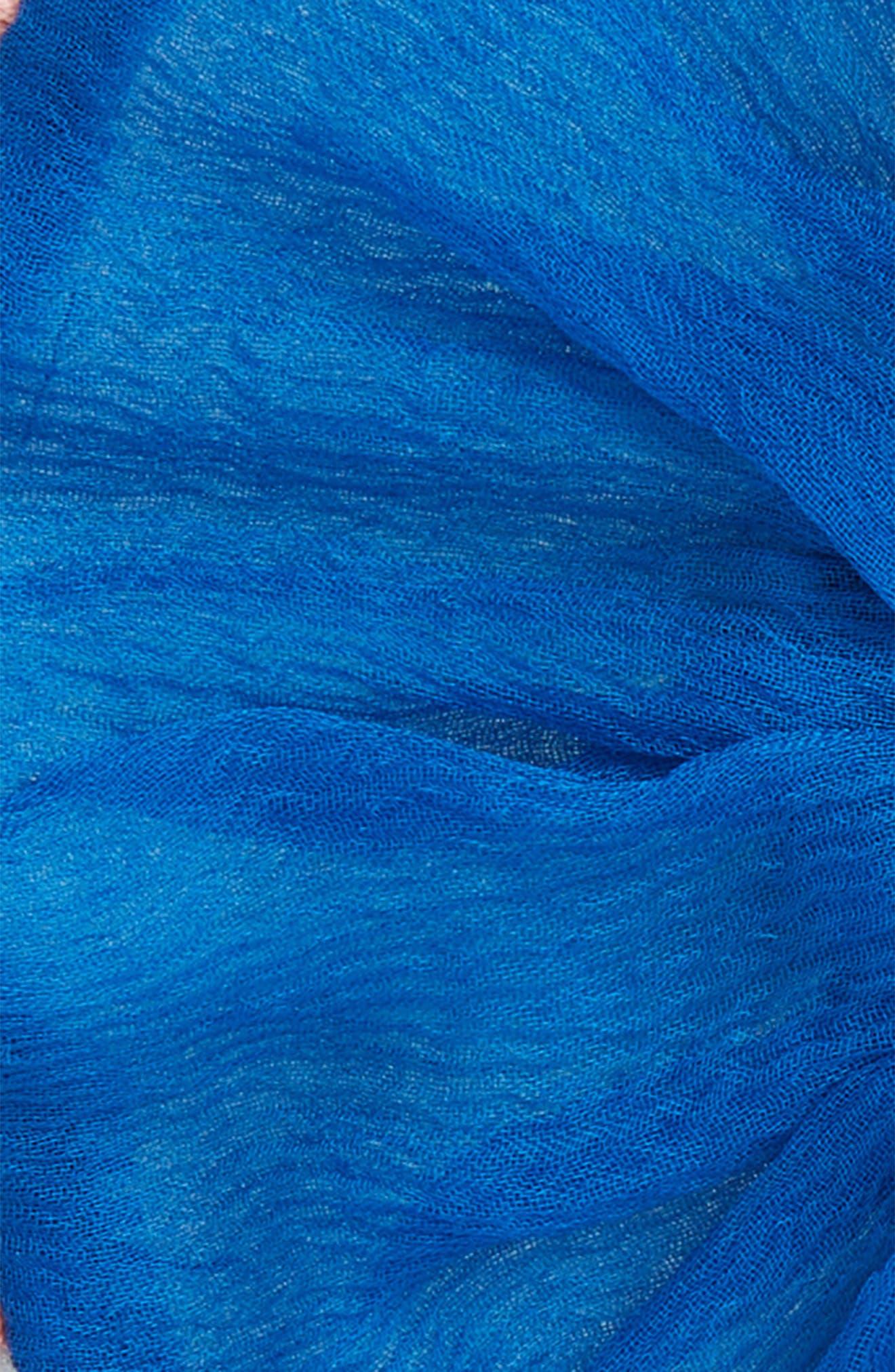 Pompom Scrunchie,                             Alternate thumbnail 3, color,                             Ocean Combo